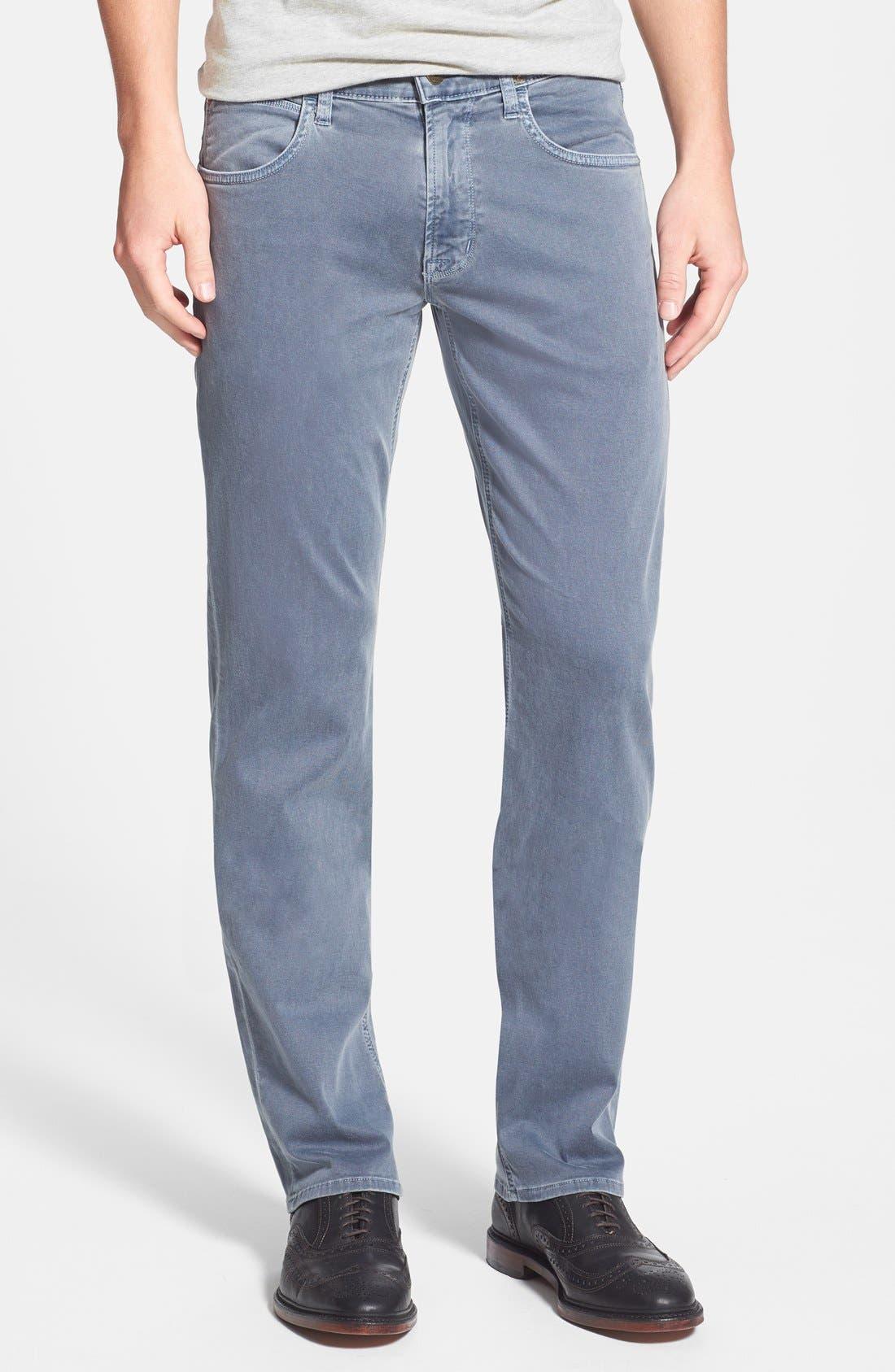 Alternate Image 1 Selected - Hudson Jeans 'Byron' Straight Leg Jeans (Sunfaded Petrol)