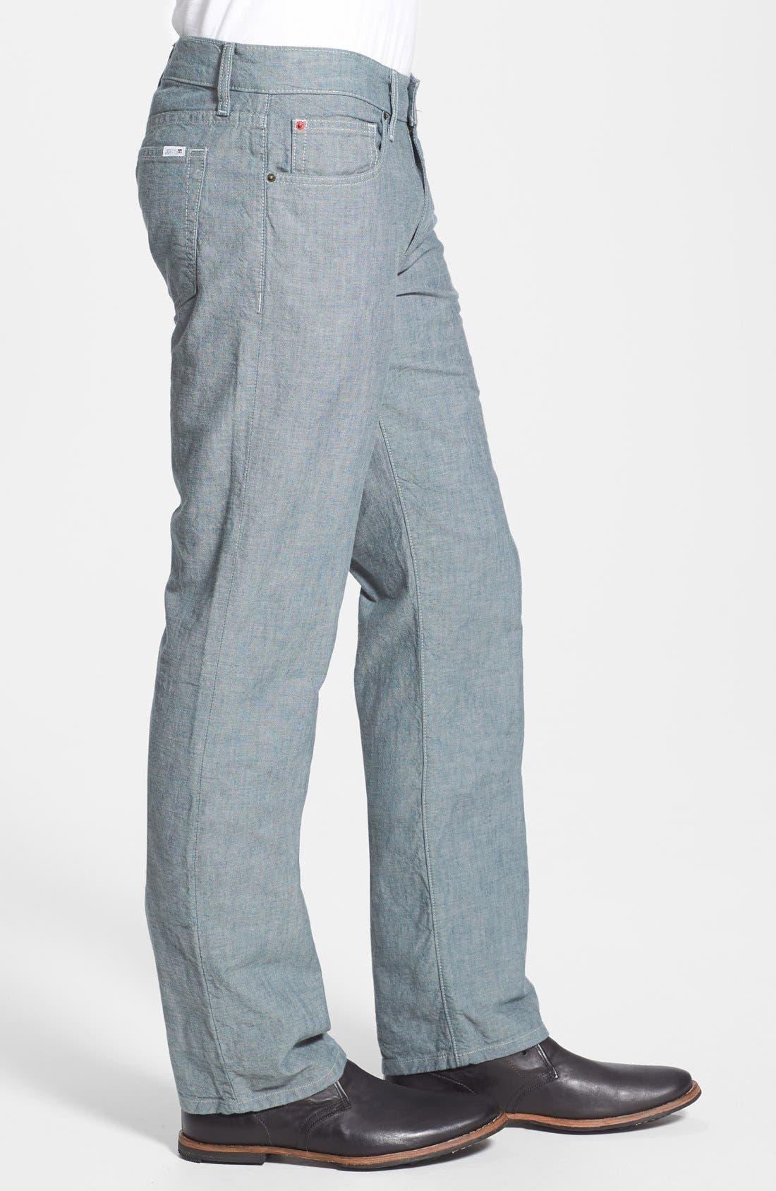 Alternate Image 3  - Joe's 'Brixton' Slim Fit Canvas Denim Jeans (Sidewalk)
