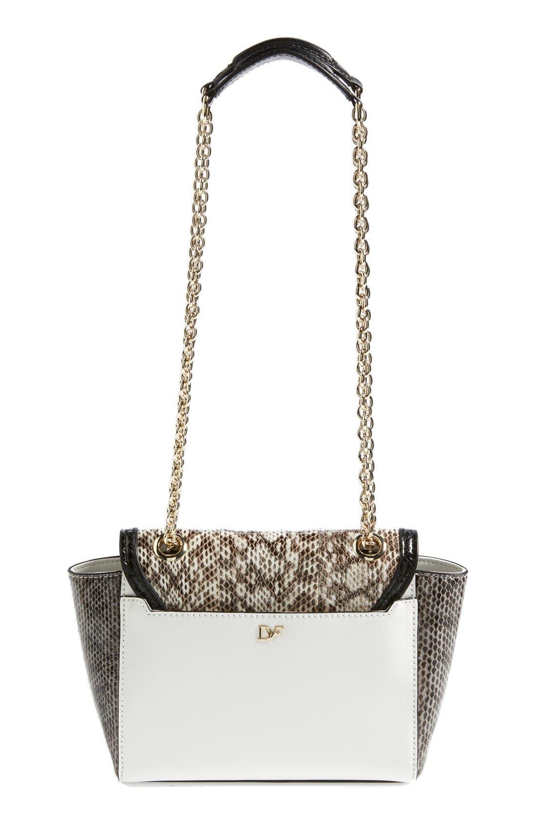 Alternate Image 4  - Diane Von Furstenberg '440 - Mini' Genuine Snakeskin & Leather Crossbody Bag
