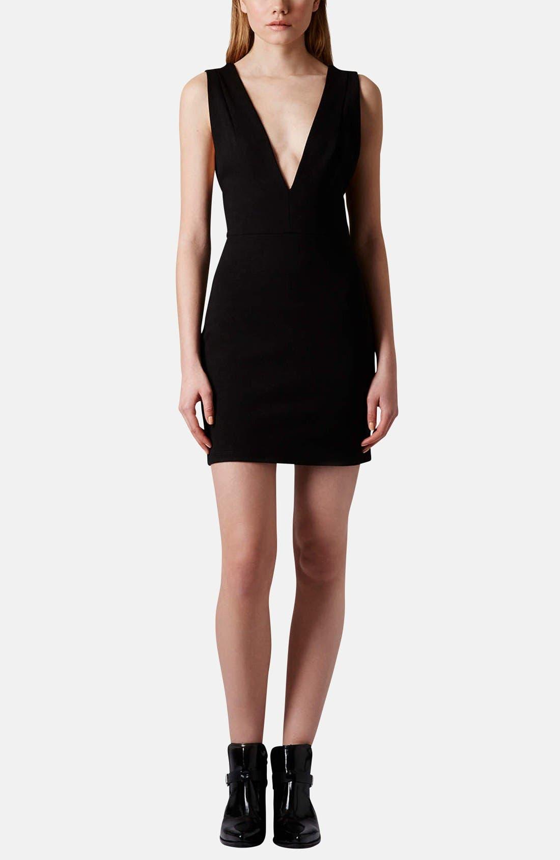Alternate Image 5  - Topshop Deep-V Jersey Body-Con Dress