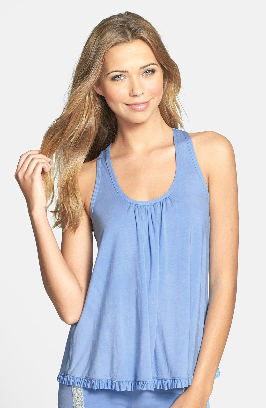 Alternate Image 1 Selected - Underella by Ella Moss 'Bohemian Bliss' Ruffle Trim Racerback Tank