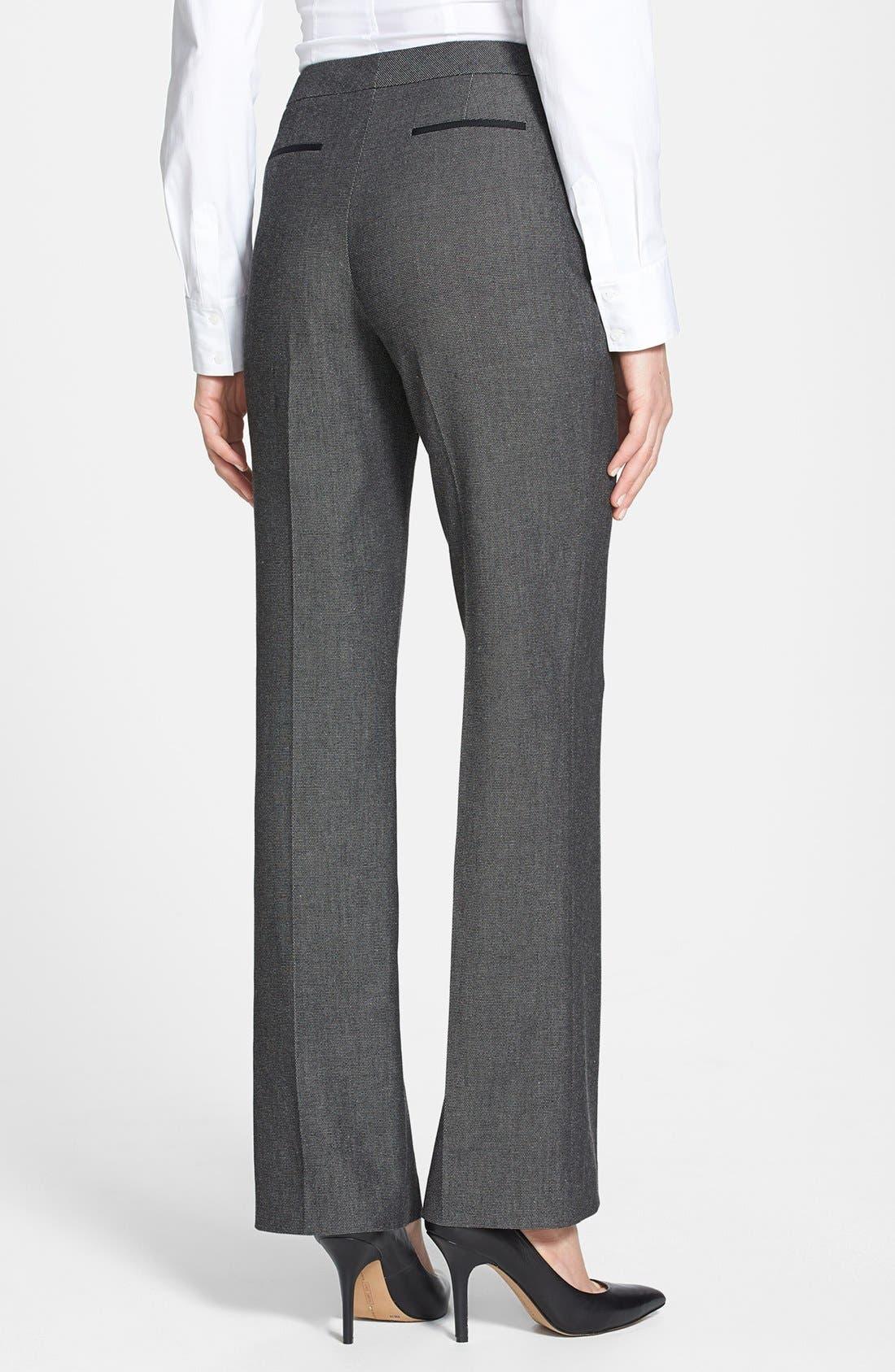 Alternate Image 2  - Halogen® 'Taylor' Pin Dot Weave Pants (Petite)