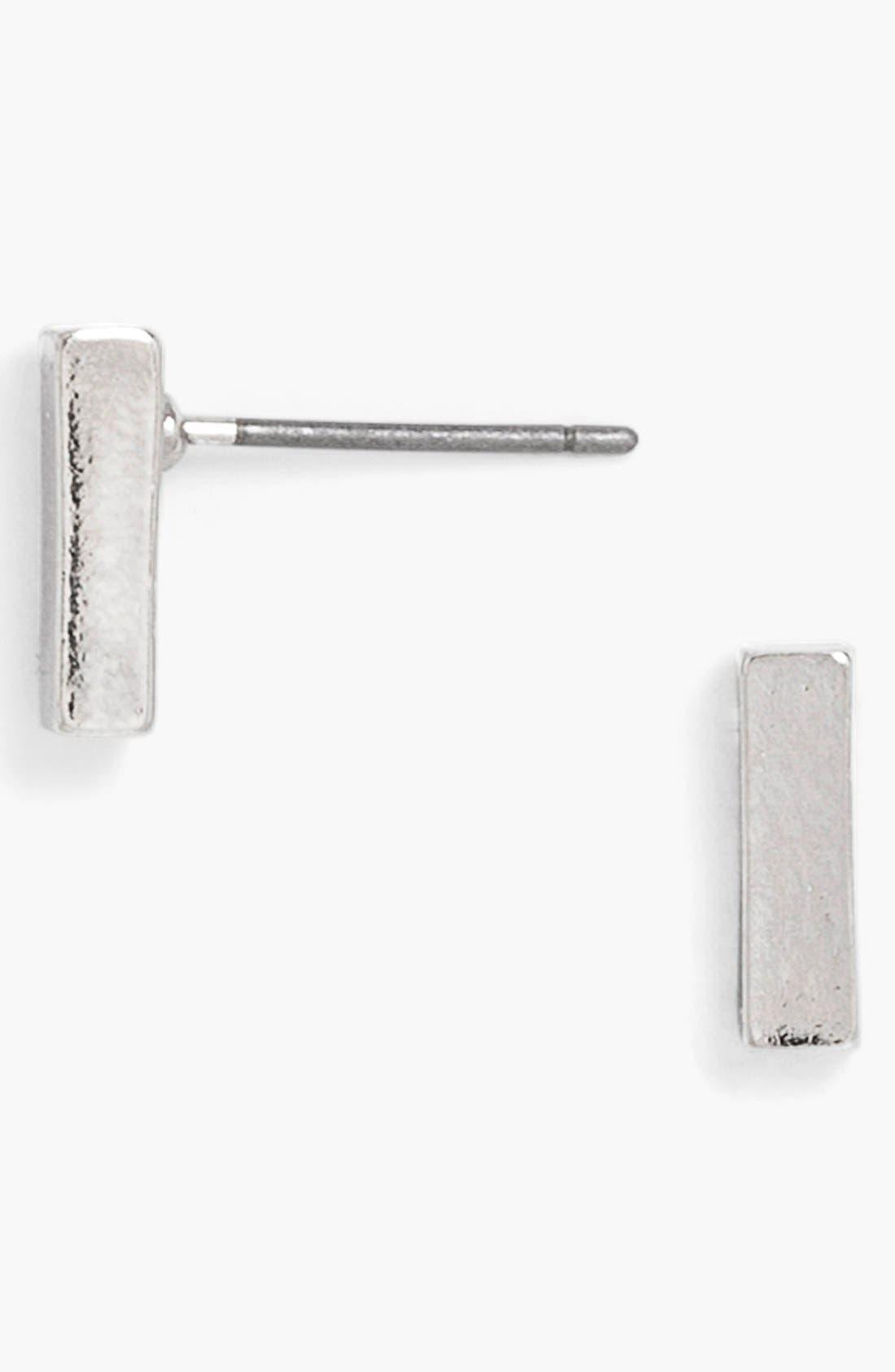'Karat' Bar Stud Earrings,                         Main,                         color, Silver