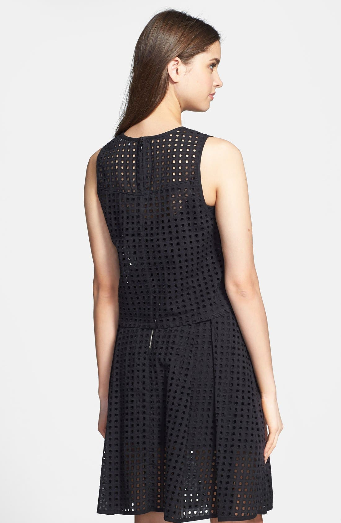 Alternate Image 2  - Vince Camuto Square Eyelet Crop Blouse