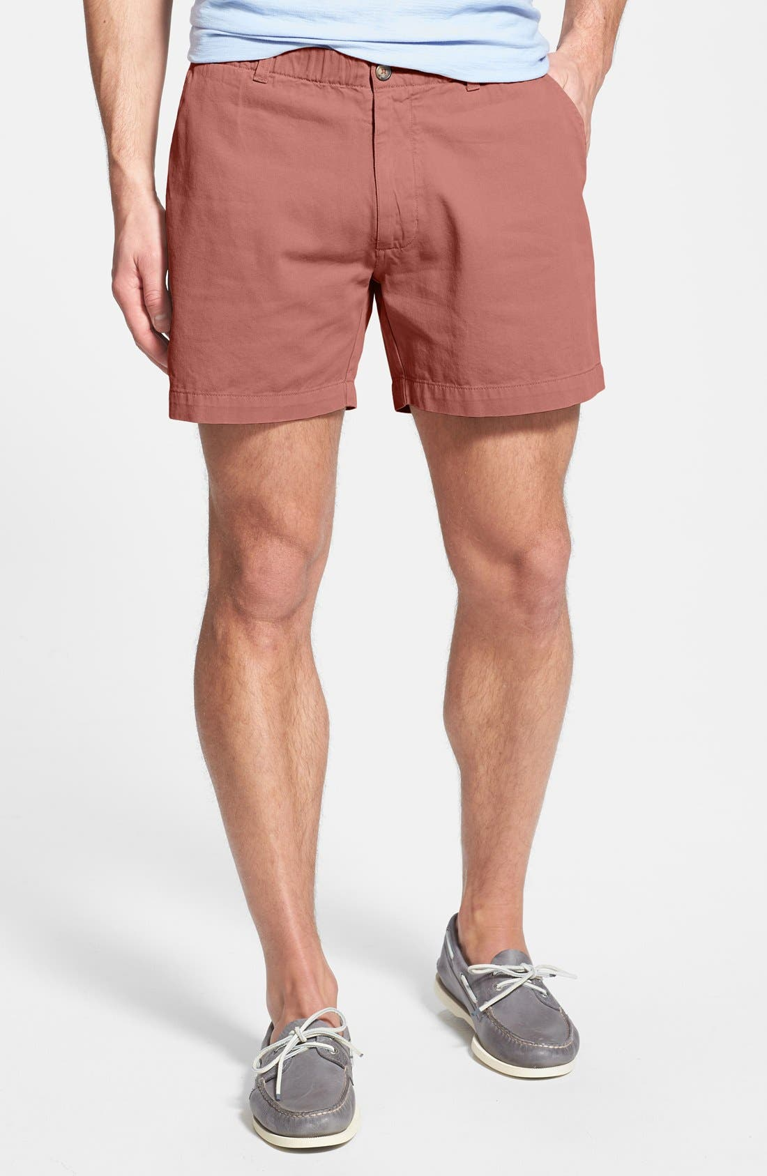 'Snappers' Vintage Washed Elastic Waistband Shorts,                             Main thumbnail 1, color,                             Nantucket Red