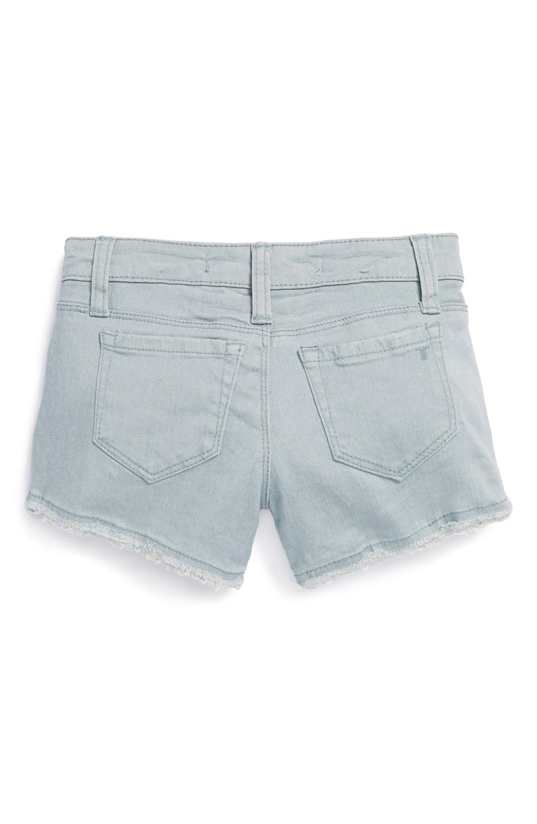 Alternate Image 1 Selected - Tractr Frayed Denim Shorts (Big Girls)