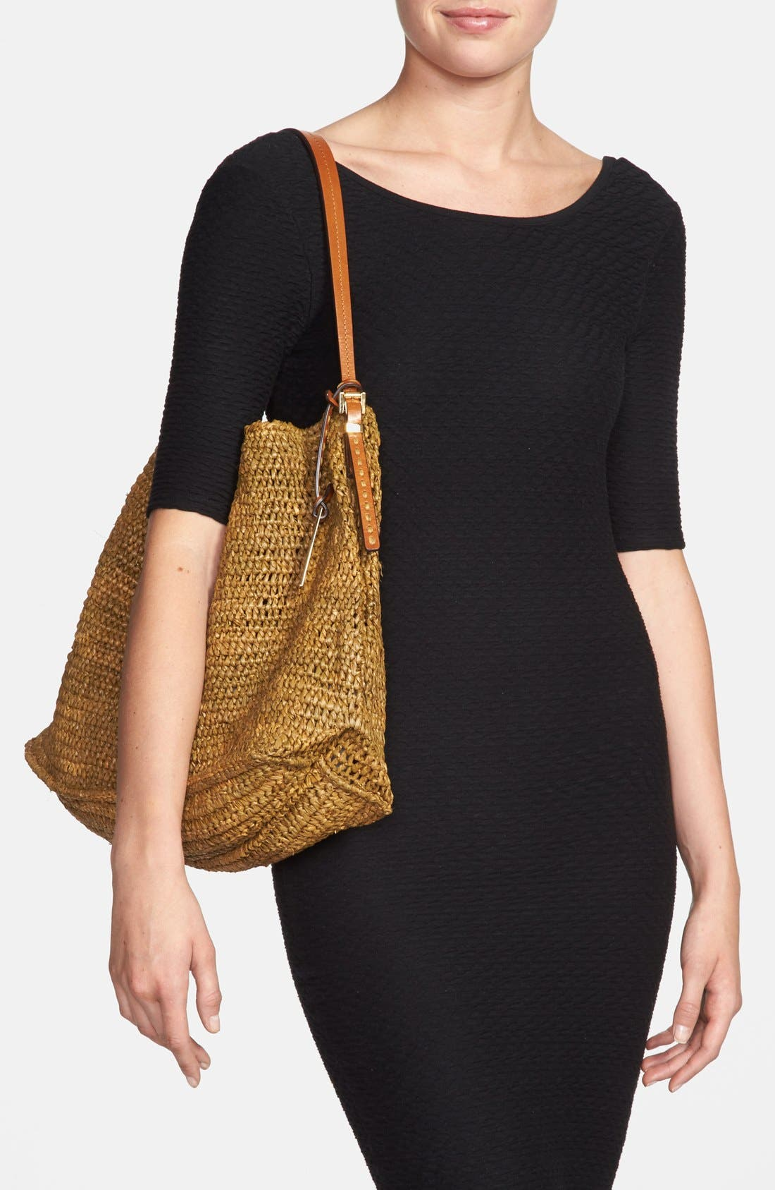 Alternate Image 2  - Michael Kors 'Santorini' Raffia Hobo