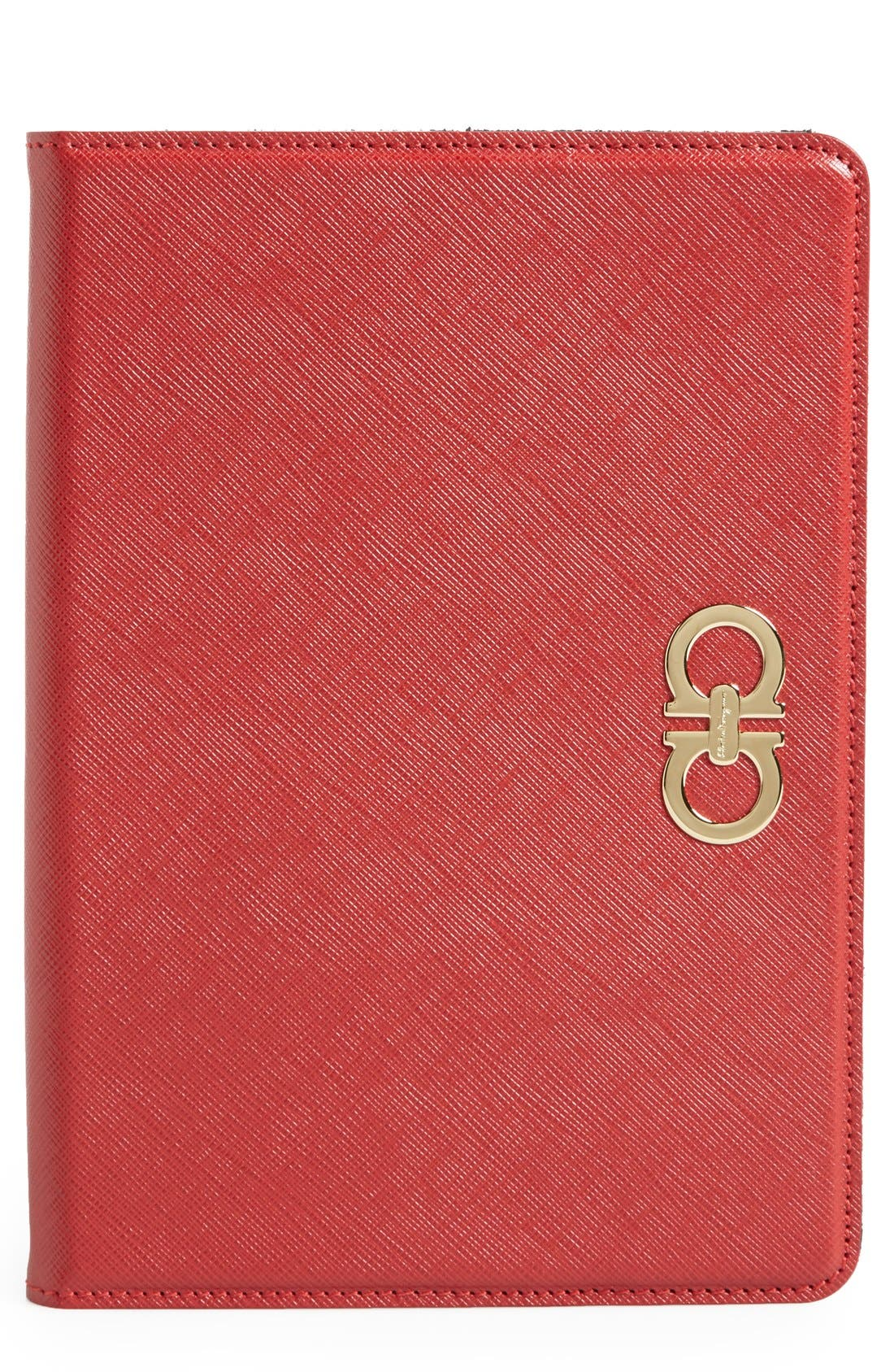 Alternate Image 1 Selected - Salvatore Ferragamo 'Gancini' Leather iPad mini Case