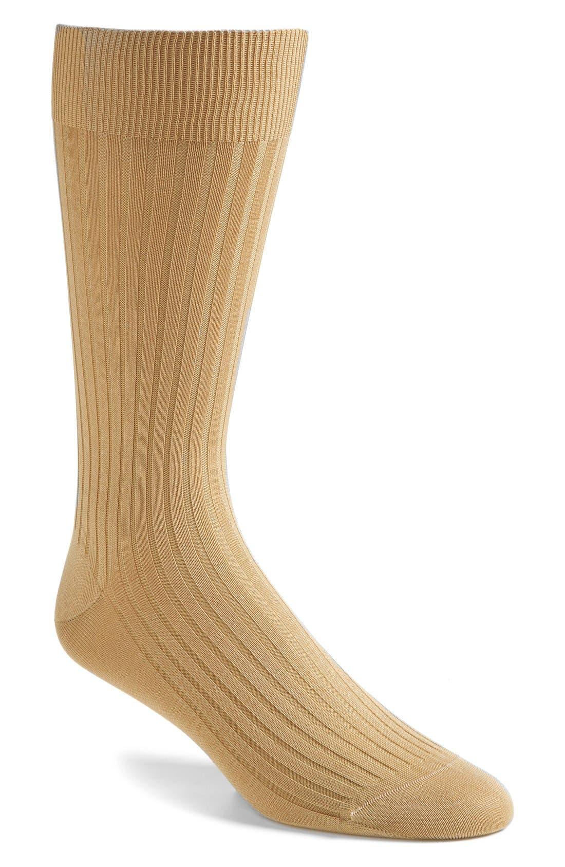Pantherella Cotton Blend Mid Calf Dress Socks