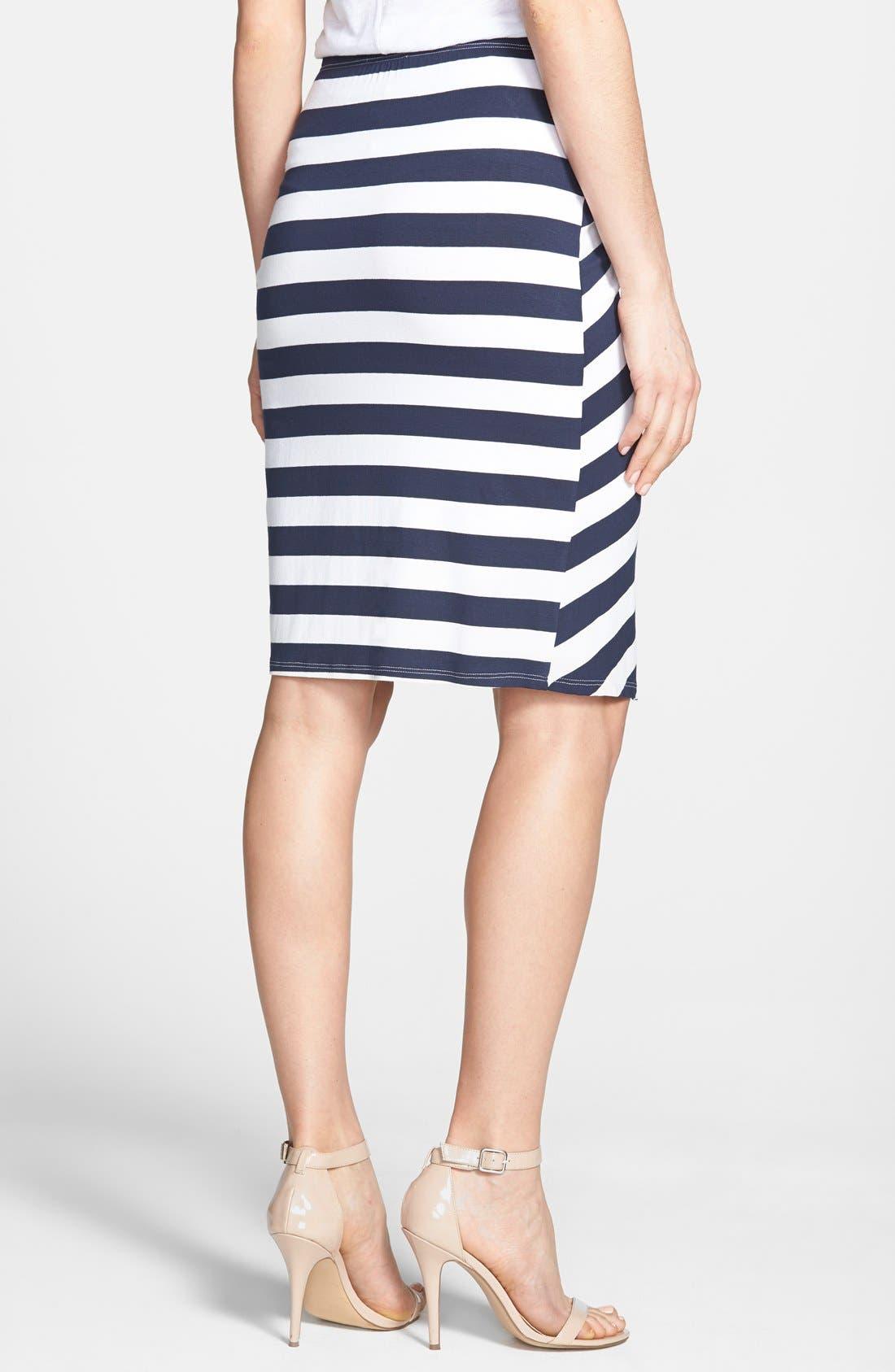Alternate Image 2  - Ella Moss 'Isla' Stripe Wrap Front Skirt