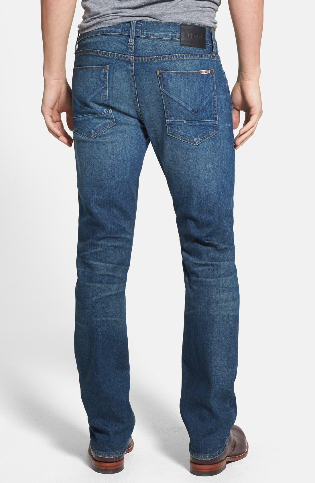 Alternate Image 2  - Hudson Jeans 'Byron' Straight Leg Jeans (Boneyard)