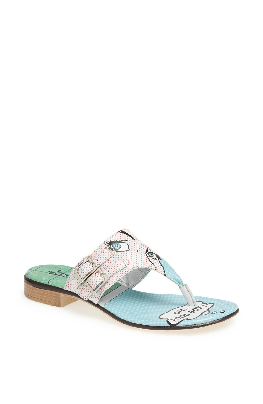 Main Image - Icon Footwear Flat Thong Sandal