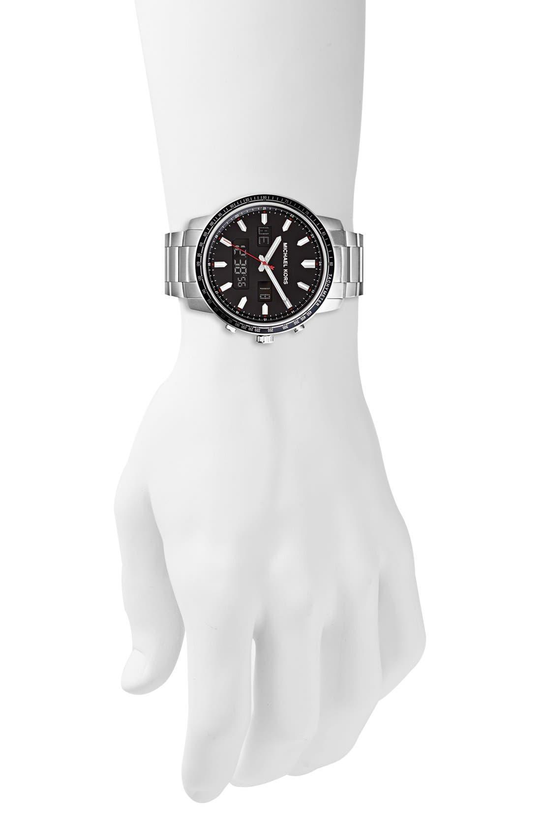Alternate Image 4  - Michael Kors 'Granger' Ana-Digi Bracelet Watch, 45mm