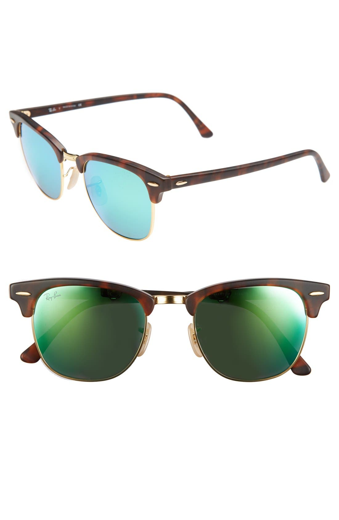 Main Image - Ray-Ban Standard Clubmaster 51mm Sunglasses