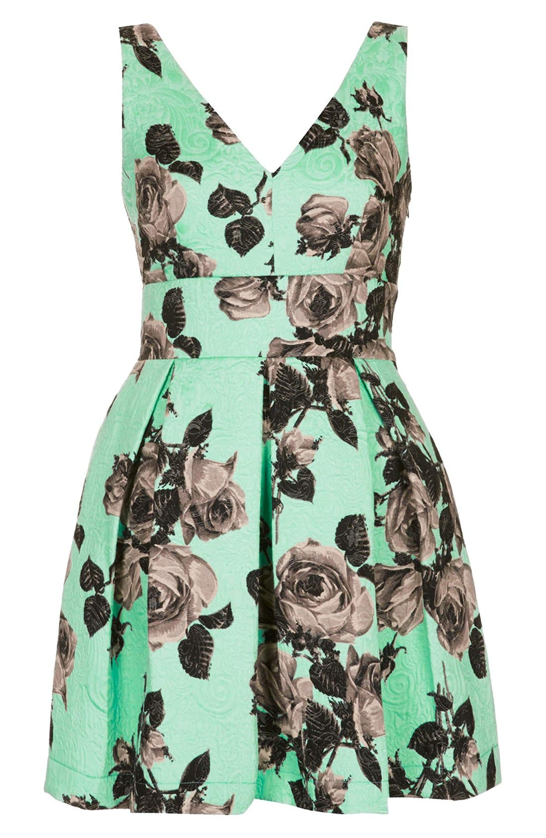 Alternate Image 3  - Topshop Floral Print Fit & Flare Dress