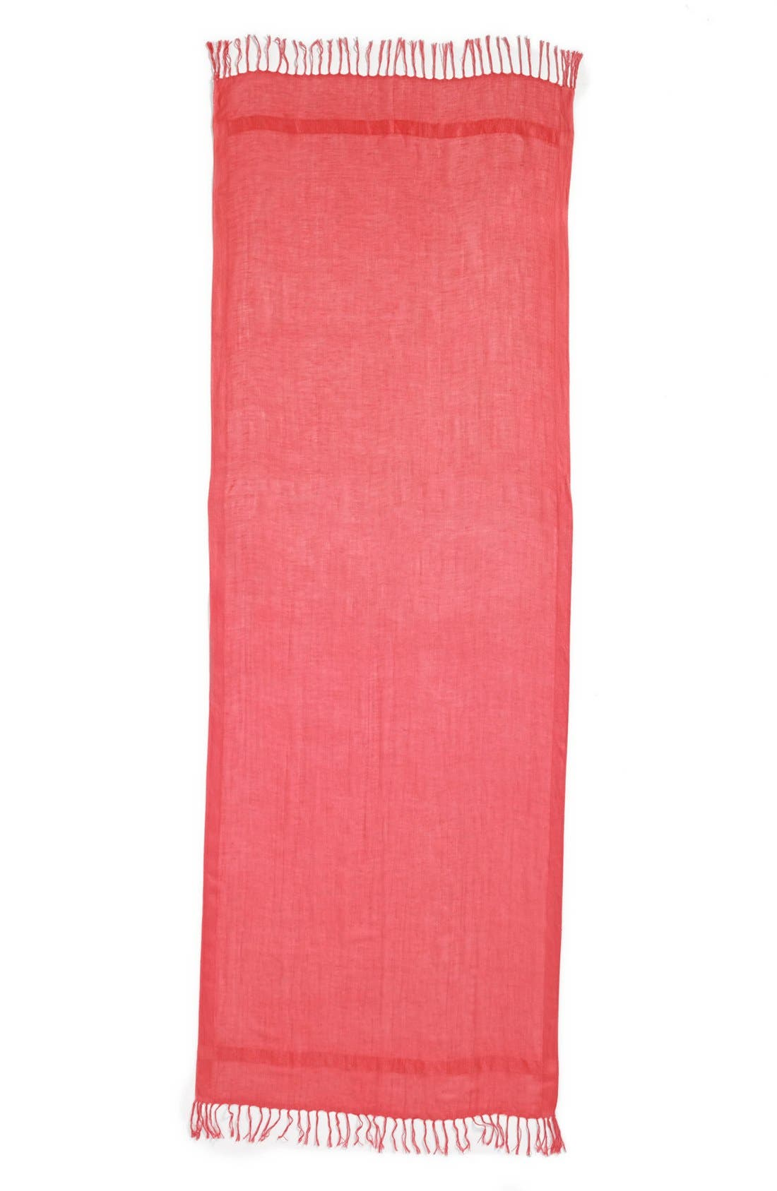 Alternate Image 2  - Halogen® Linen Blend Scarf