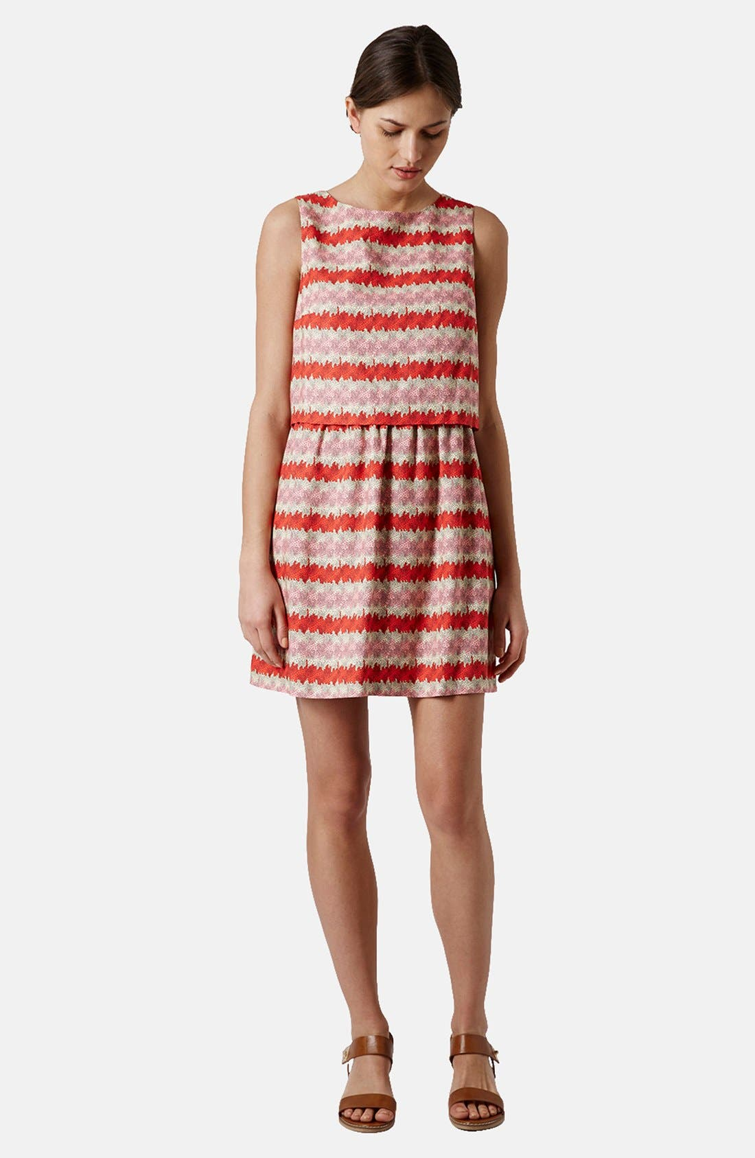 Alternate Image 5  - Topshop 'Kiwi Stripe' Print Crop Bodice Dress