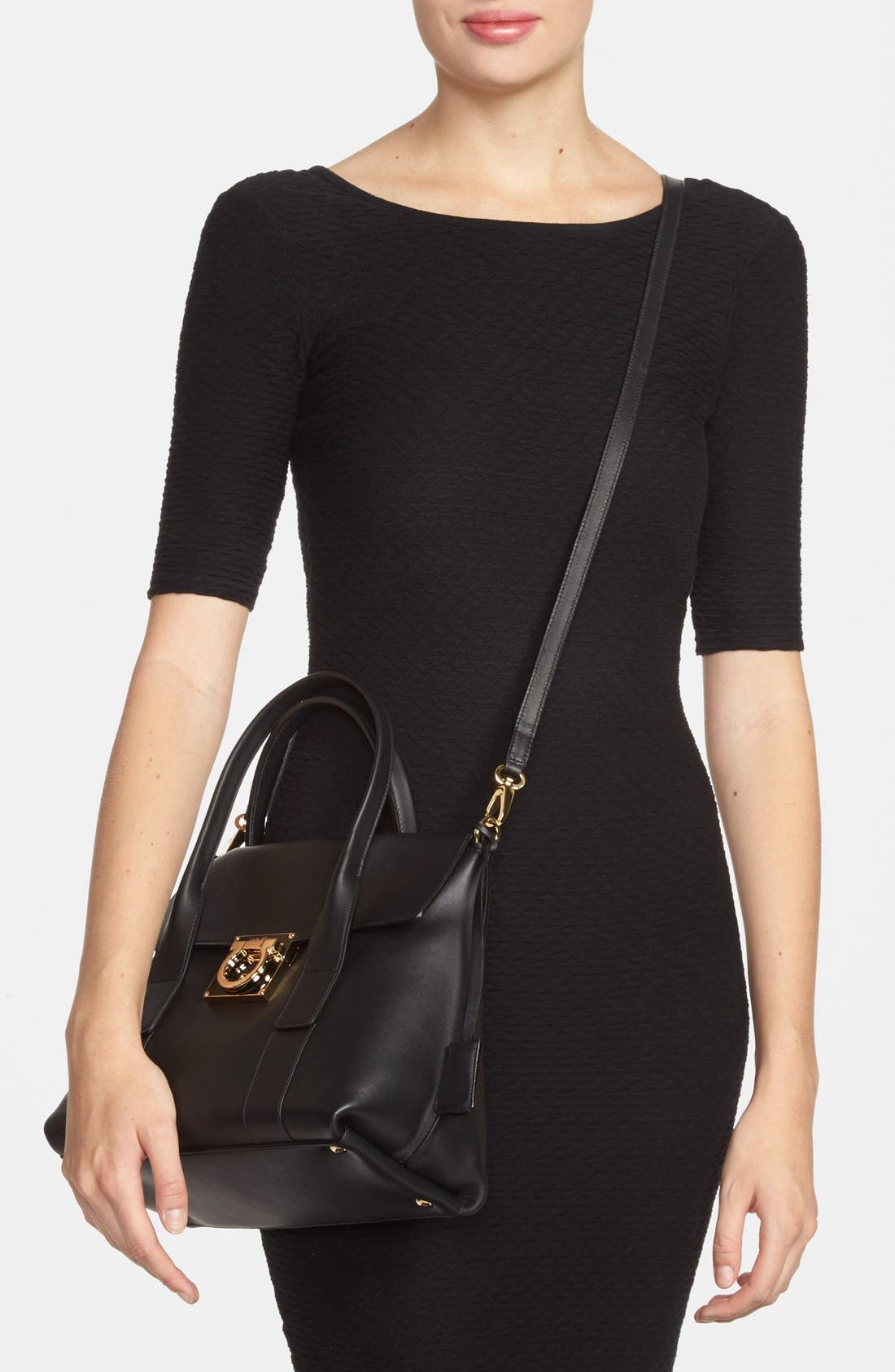 Alternate Image 2  - Salvatore Ferragamo 'Mini Sookie' Leather Satchel