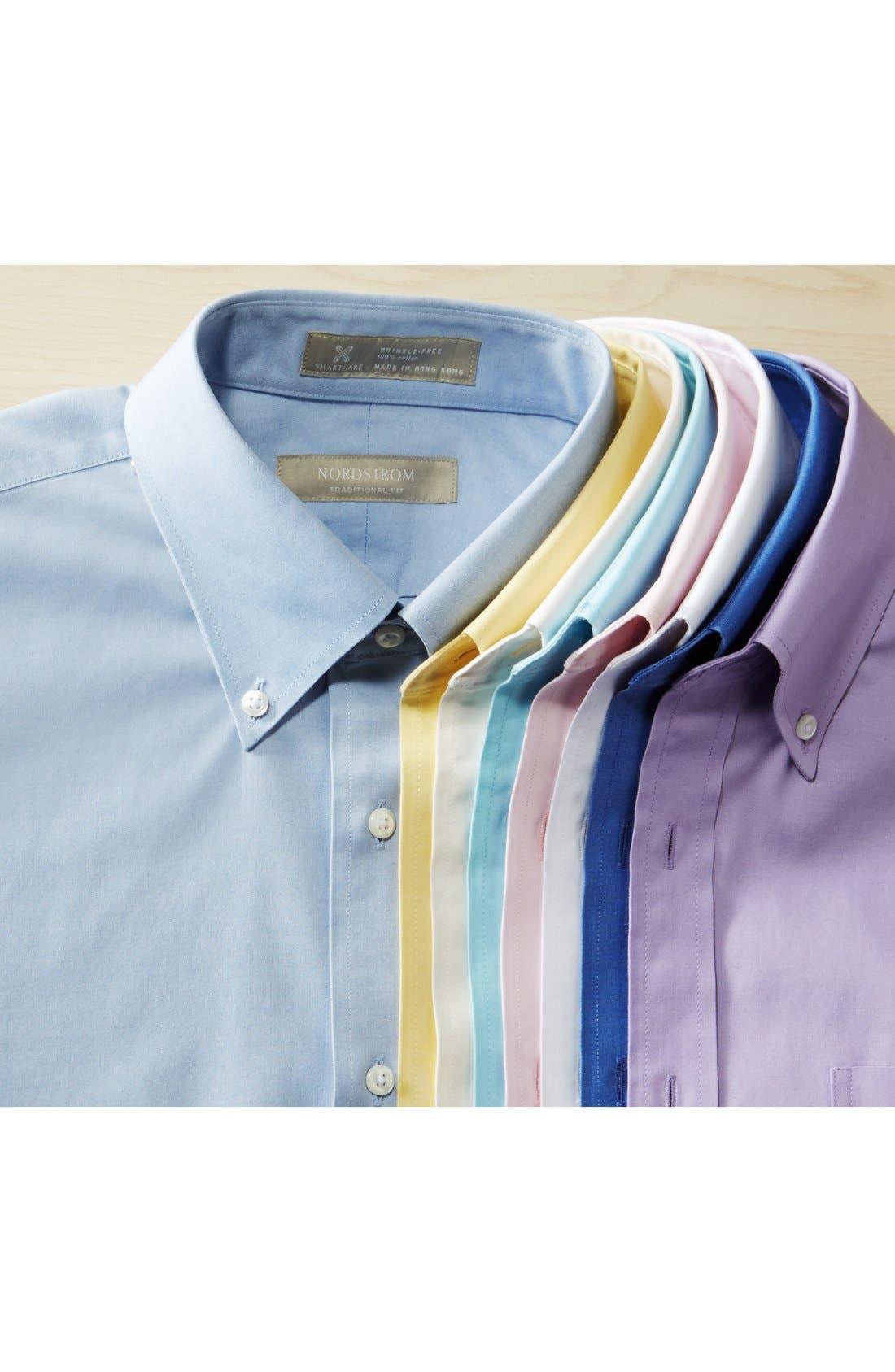 Alternate Image 9  - Nordstrom Men's Shop Smartcare™ Traditional Fit Pinpoint Dress Shirt