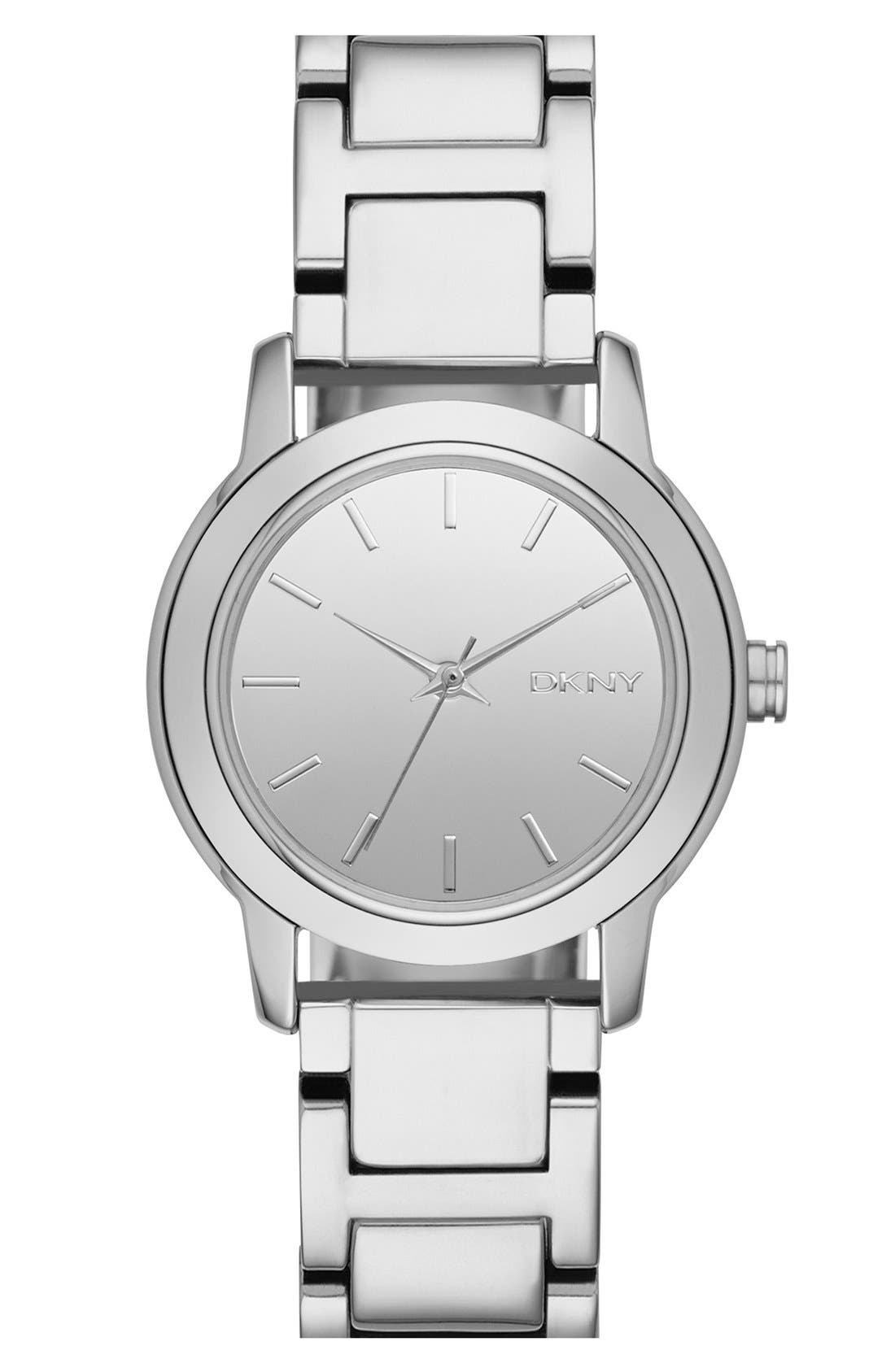 Alternate Image 1 Selected - DKNY 'Tompkins' Mirror Finish Bracelet Watch