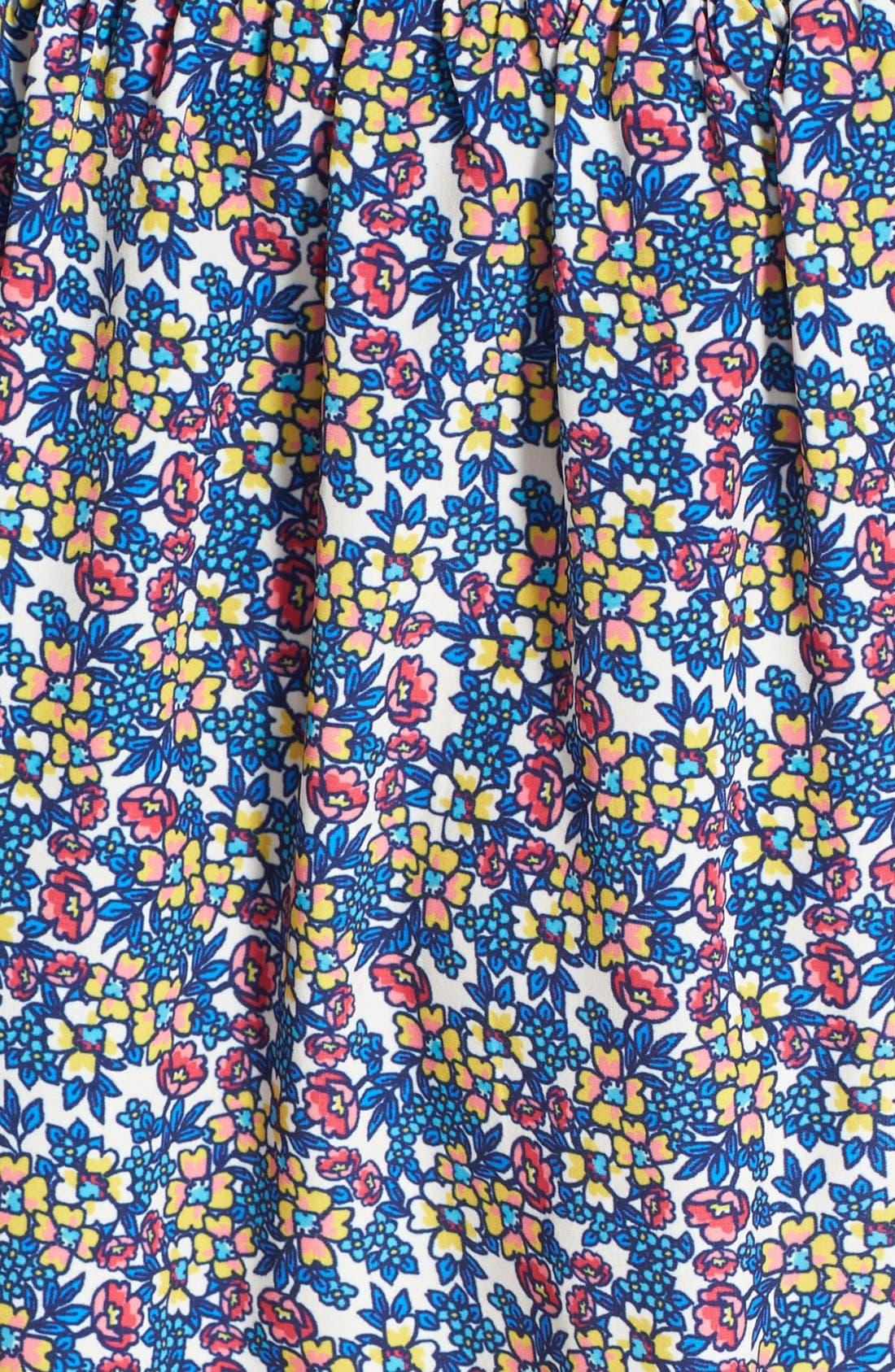 Alternate Image 3  - Socialite Floral Print Crochet Trim Skirt (Juniors)