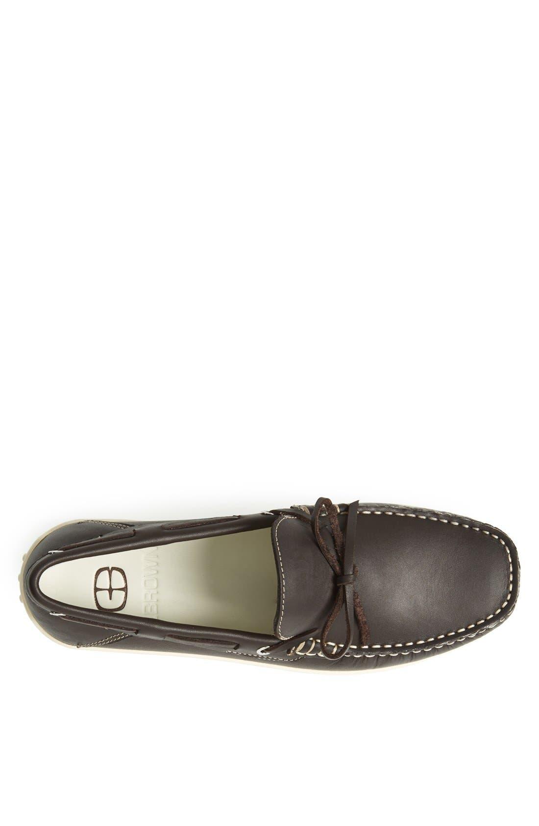'Bonaire' Driving Shoe,                             Alternate thumbnail 3, color,                             Dark Brown
