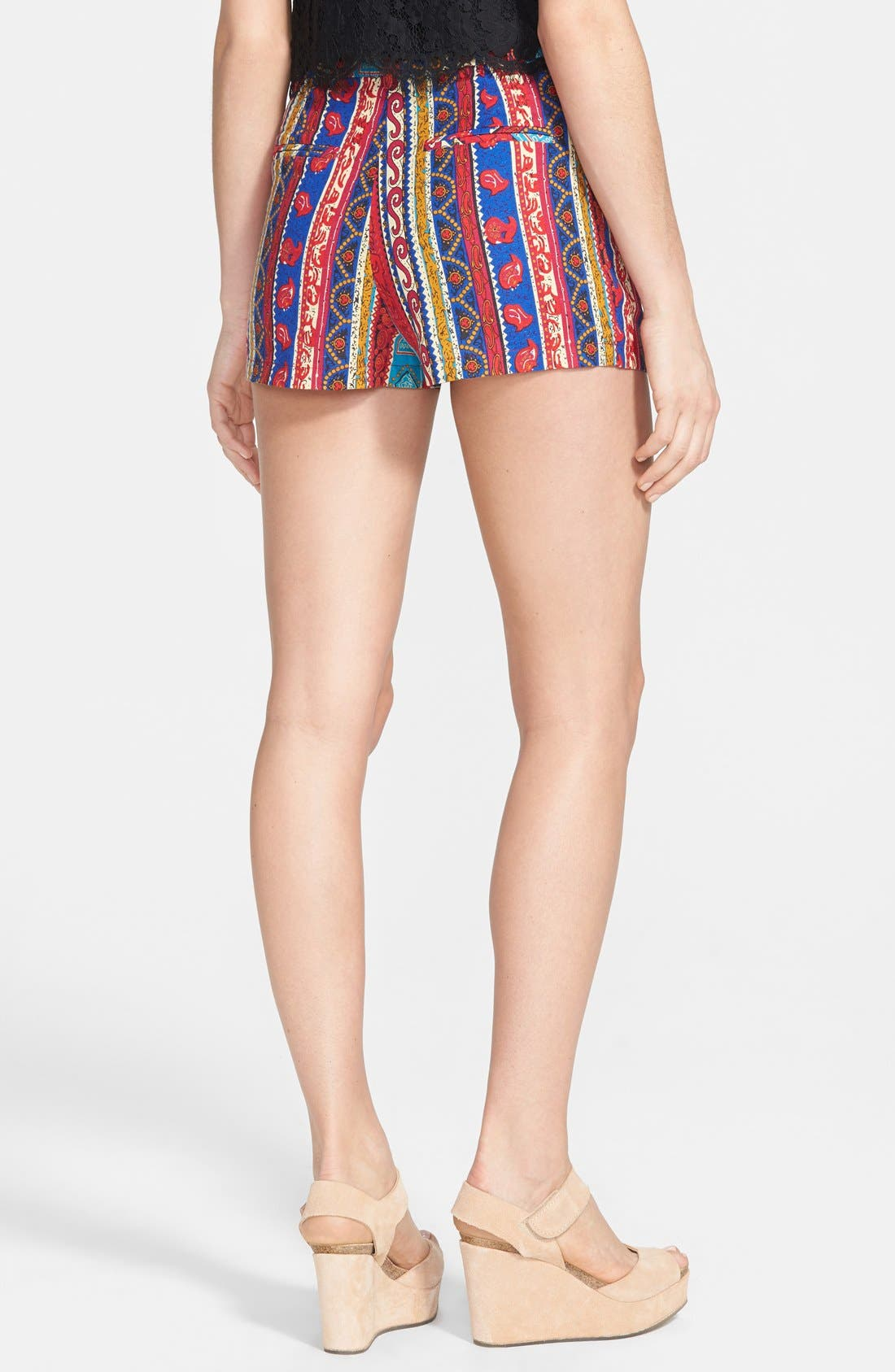 Alternate Image 2  - Lucca Couture Print High Rise Shorts
