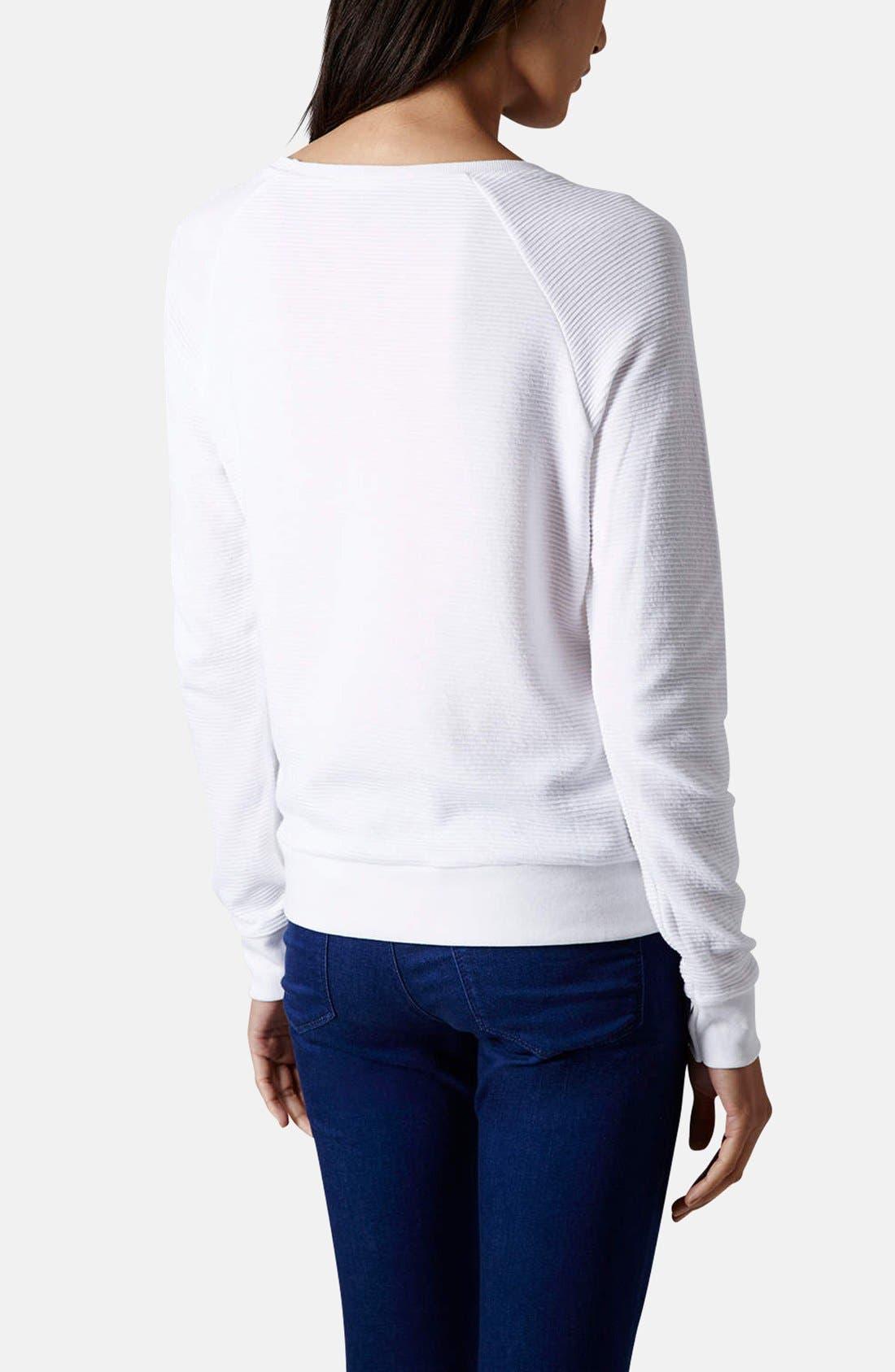 Alternate Image 2  - Topshop Rib Knit Pullover