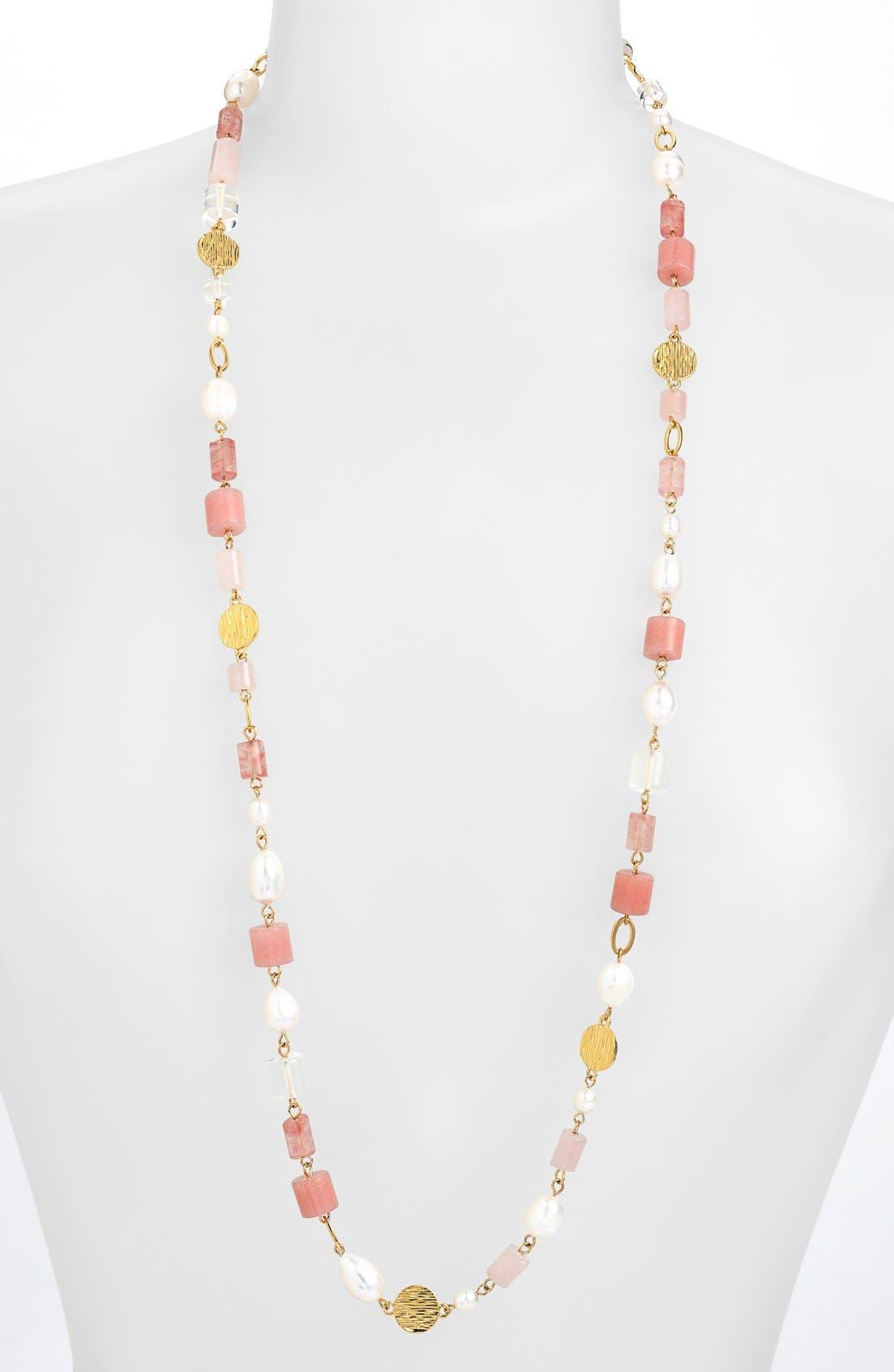 Alternate Image 1 Selected - Lauren Ralph Lauren Long Bead Station Necklace