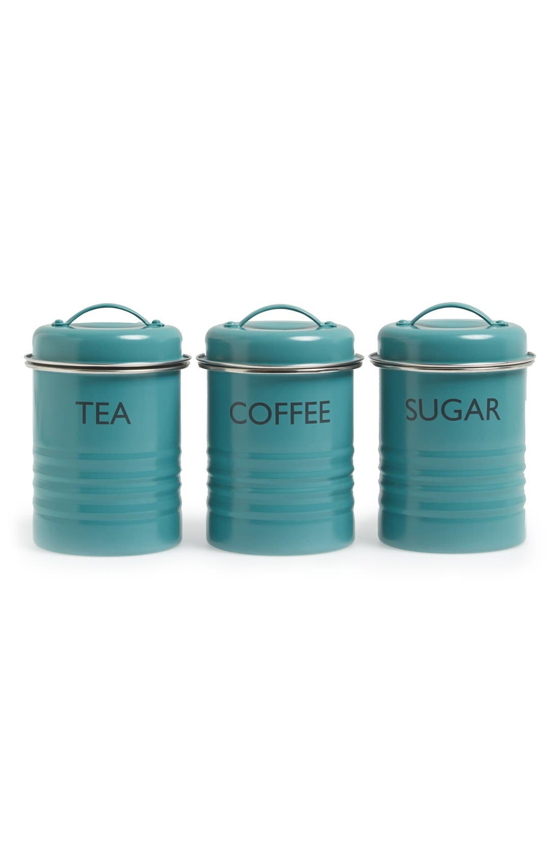 Main Image - Typhoon 'Vintage Kitchen - Summer House' Enamel Tea, Coffee & Sugar Storage Canisters (Set of 3)