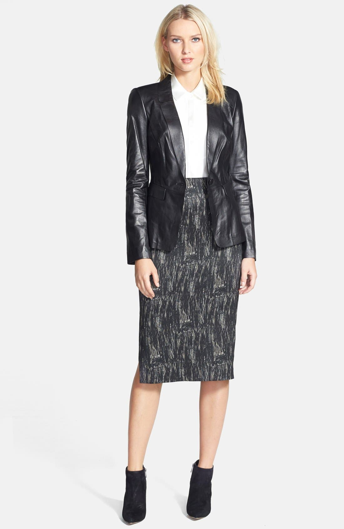 Alternate Image 4  - Lafayette 148 New York 'Dayna - Nocturnal Etching' Skirt