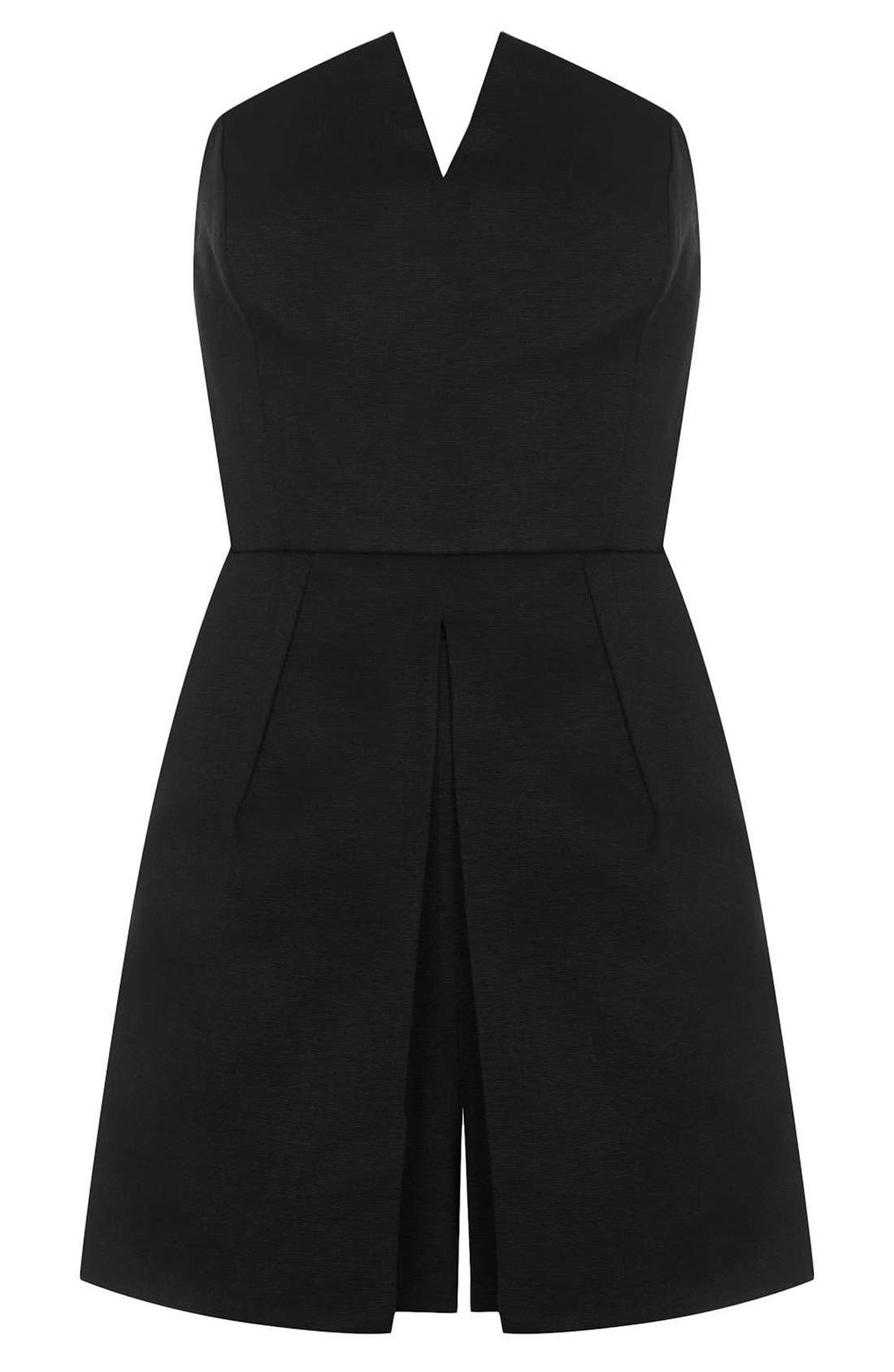 Alternate Image 3  - Topshop Notched Neck Romper (Regular & Petite)