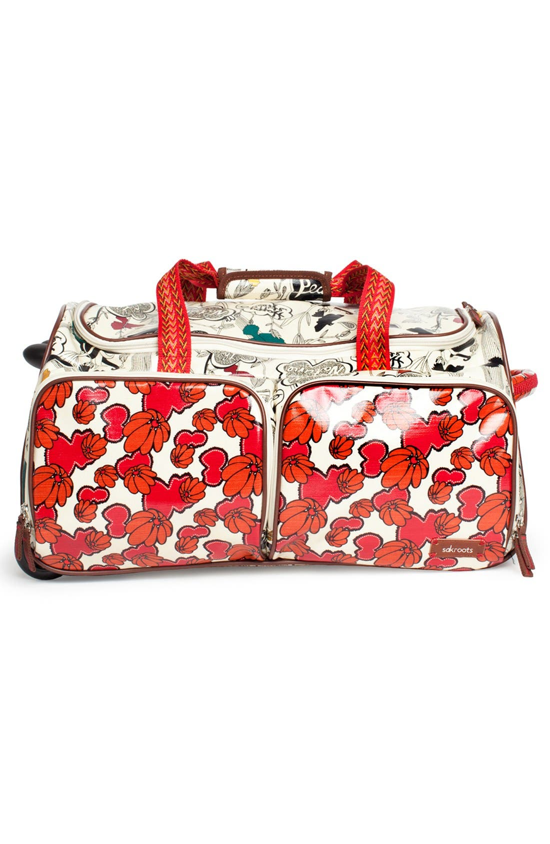 Alternate Image 3  - Sakroots 'Artist Circle' Rolling Carry-On Duffel Bag (23 Inch)