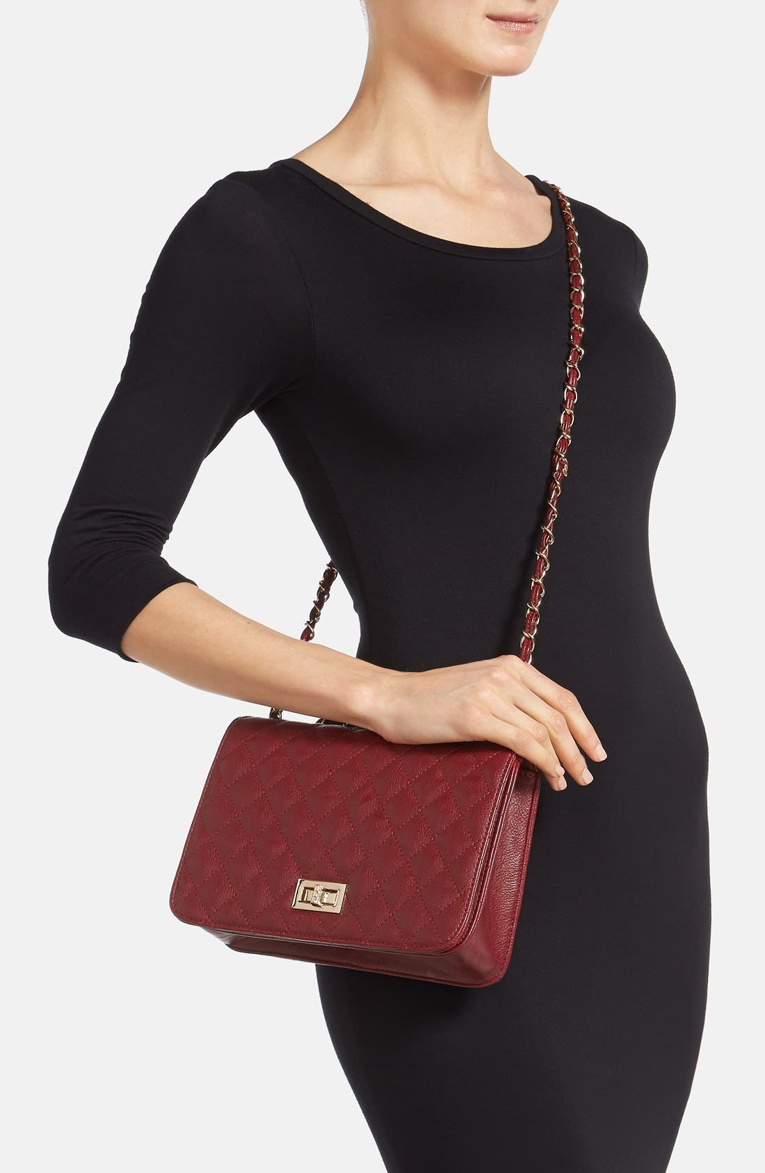 Alternate Image 2  - NB Handbags Quilted Convertible Crossbody Bag (Juniors) (Online Only)