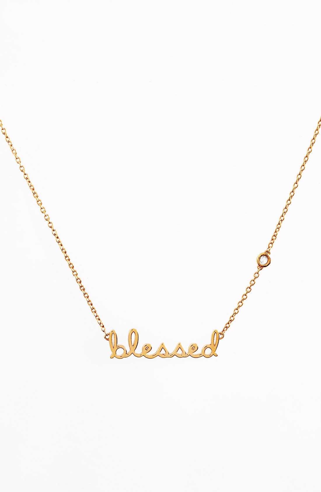 'Blessed' Necklace,                         Main,                         color, Gold