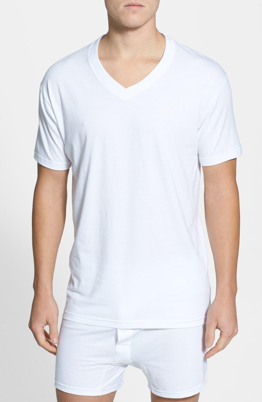 Nordstrom Men's Shop 4-Pack Regular Fit Supima® Cotton V-Neck T-Shirts