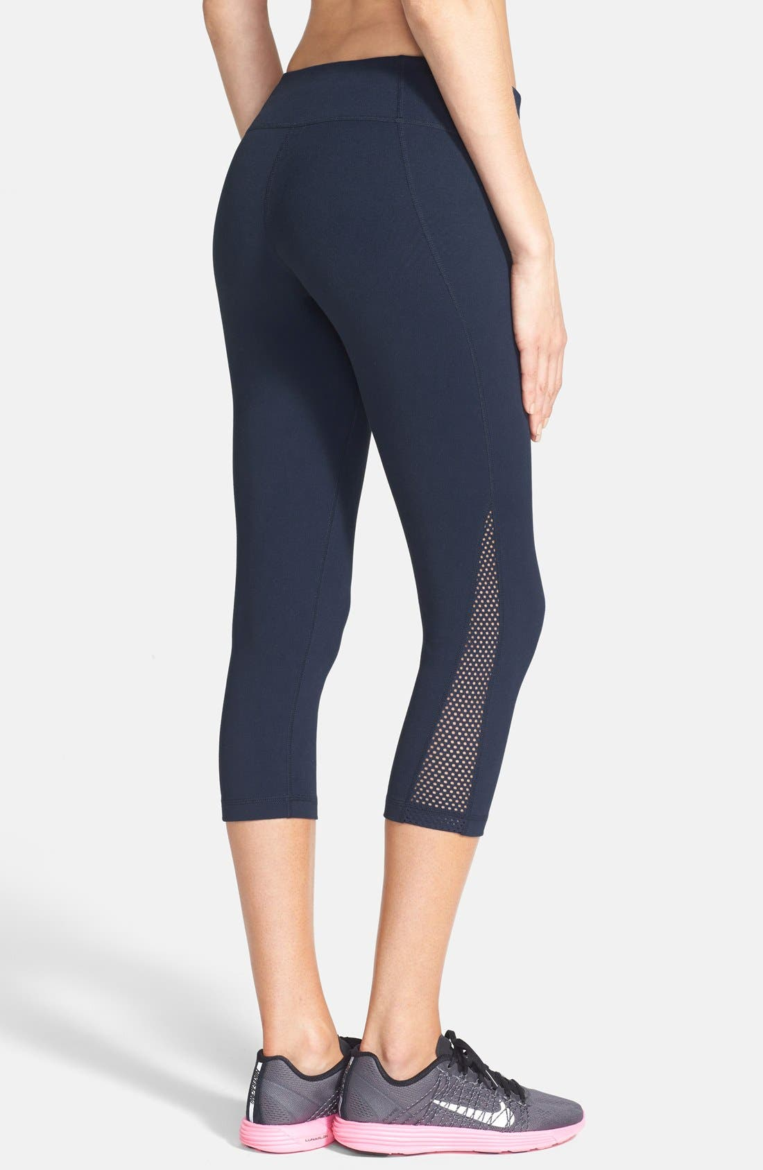 Alternate Image 2  - Zella 'Live In - Streamline' Mesh Detail Capris