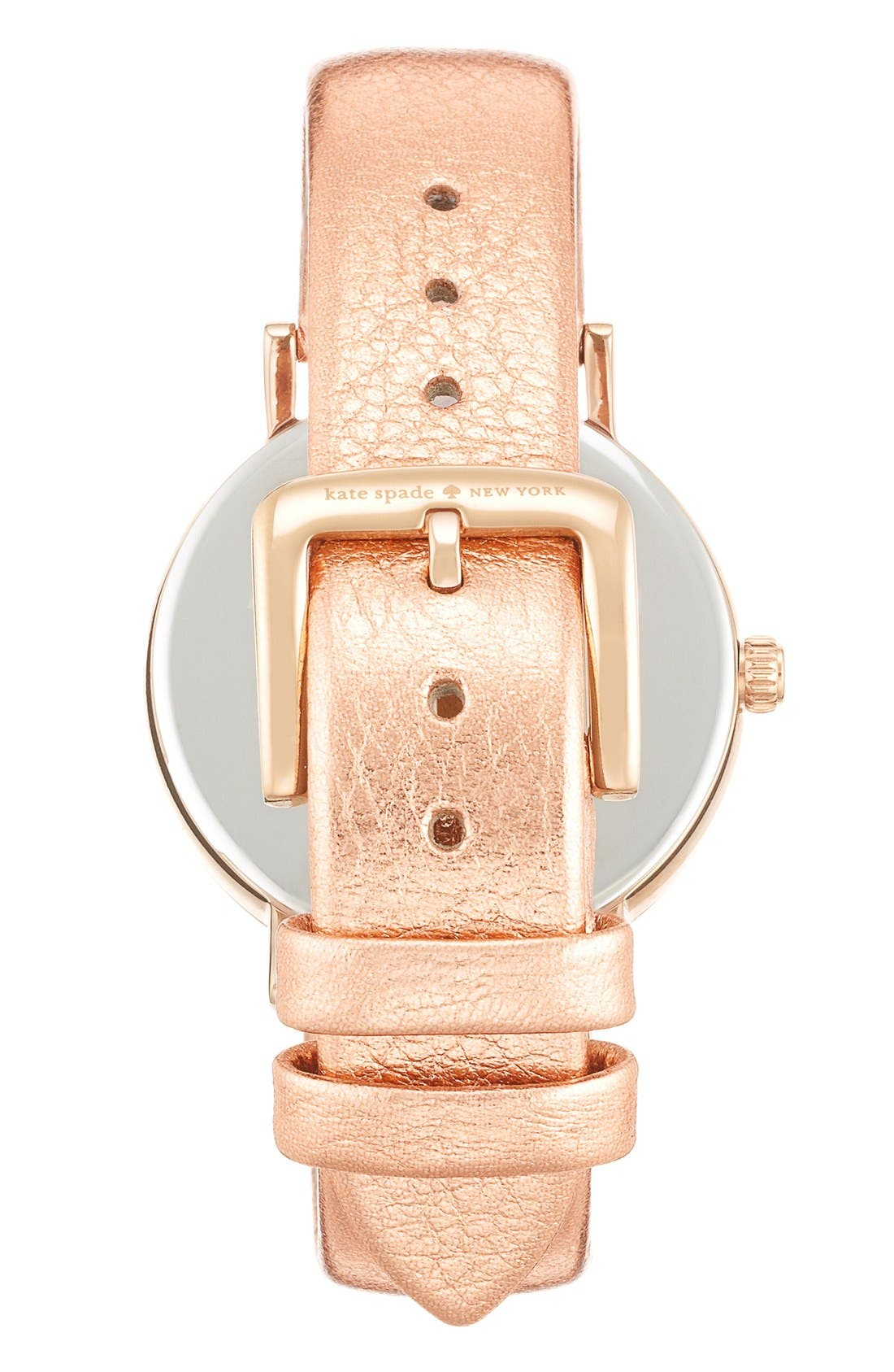 Alternate Image 2  - kate spade new york 'metro' scallop dial leather strap watch, 34mm