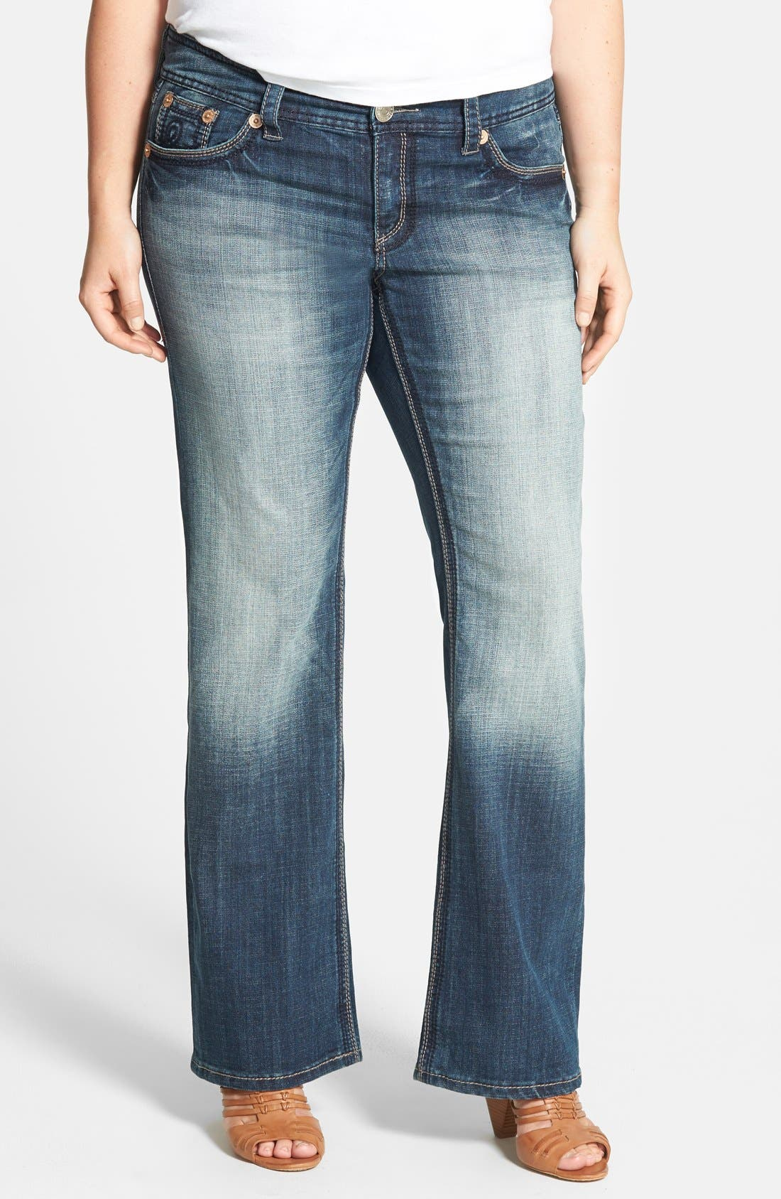 Alternate Image 1 Selected - Seven7 Bootcut Jeans (Nirvana) (Plus Size)