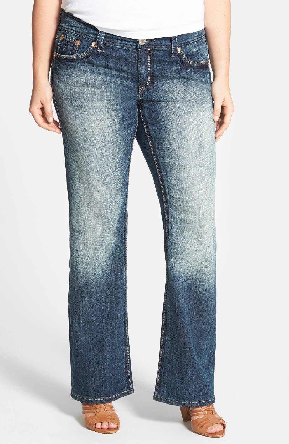 Main Image - Seven7 Bootcut Jeans (Nirvana) (Plus Size)