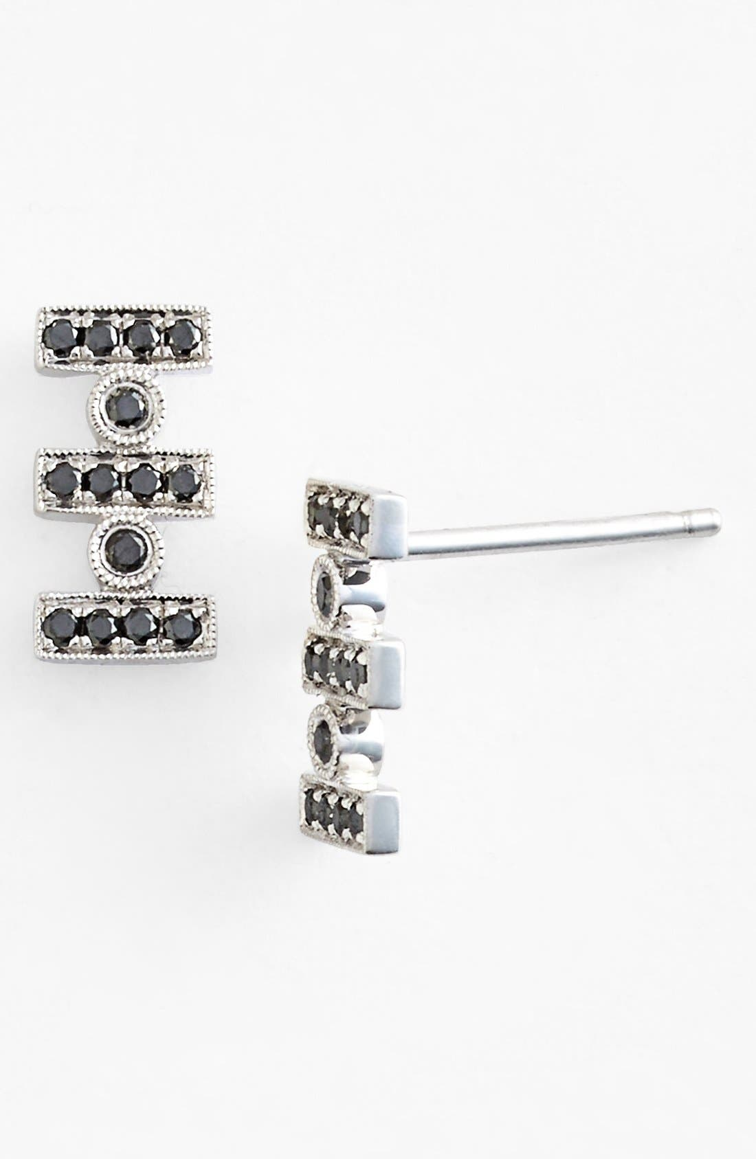 Alternate Image 1 Selected - Dana Rebecca Designs 'Reese' Diamond Stud Earrings