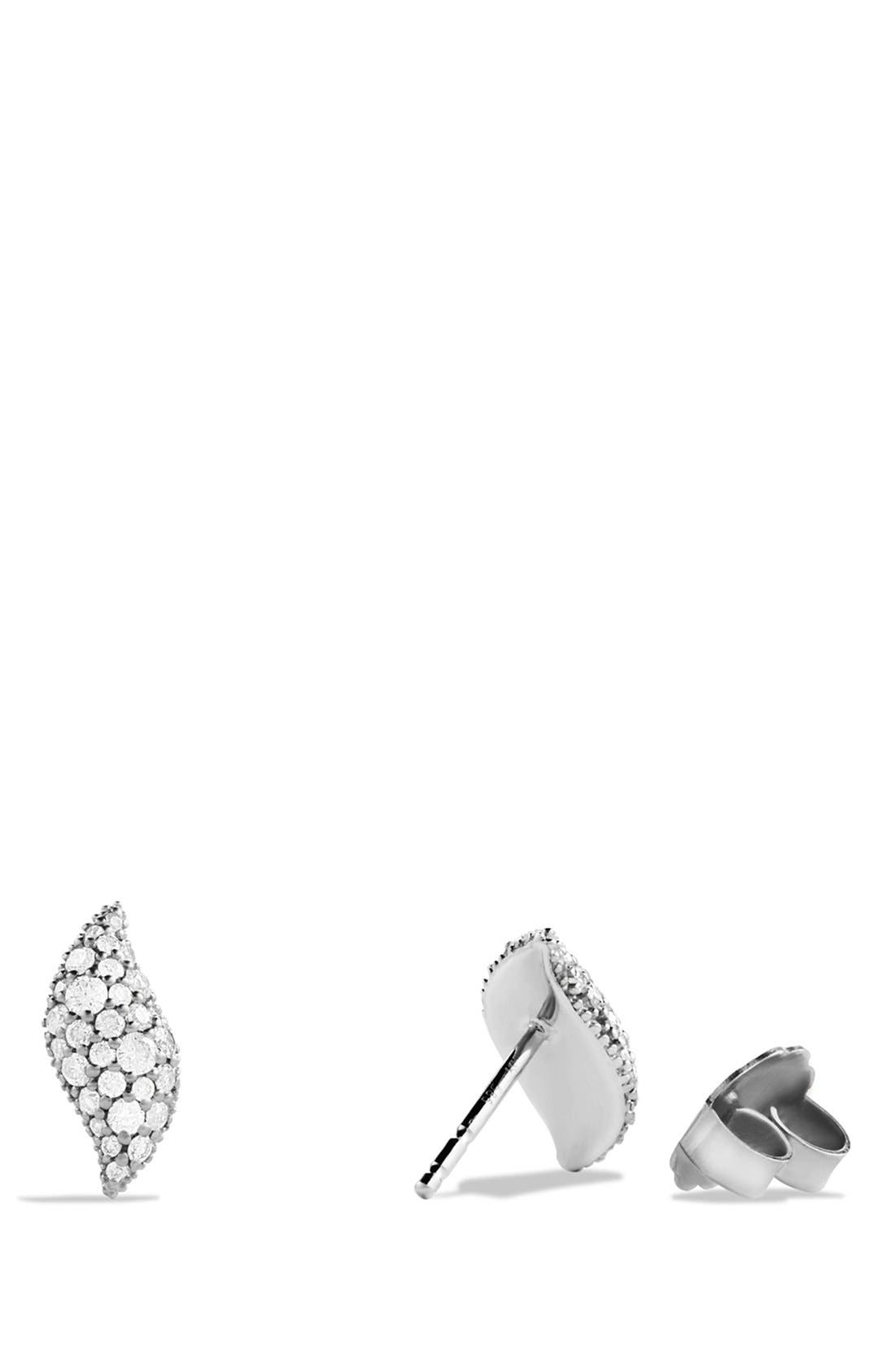 'Hampton Cable' Earrings with Diamonds,                             Alternate thumbnail 2, color,                             Diamond