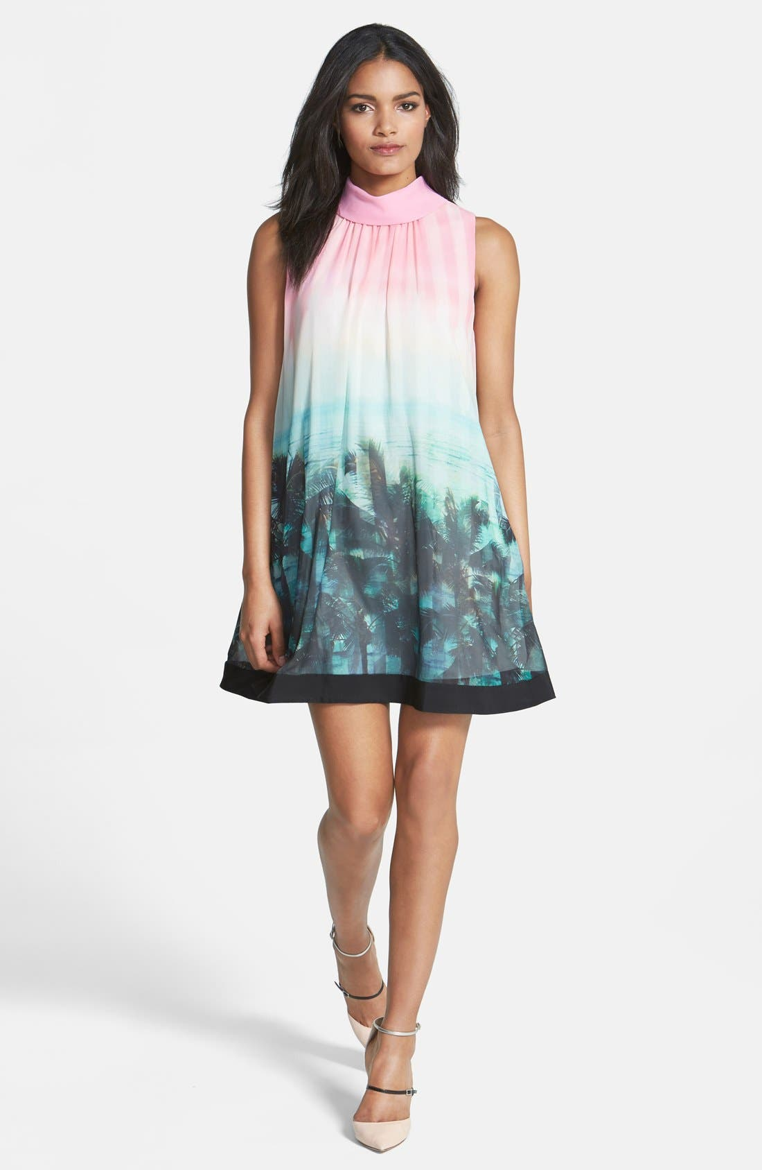 Main Image - Ted Baker London 'Palm Tree Paradise' Print Dress