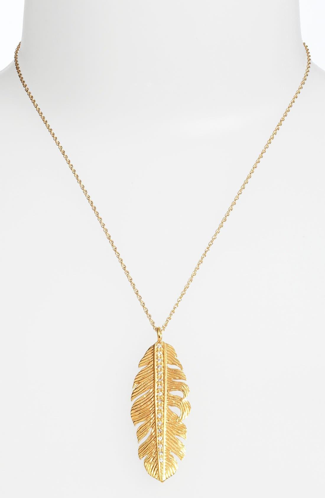 Alternate Image 2  - Melinda Maria Large Feather Pendant Necklace