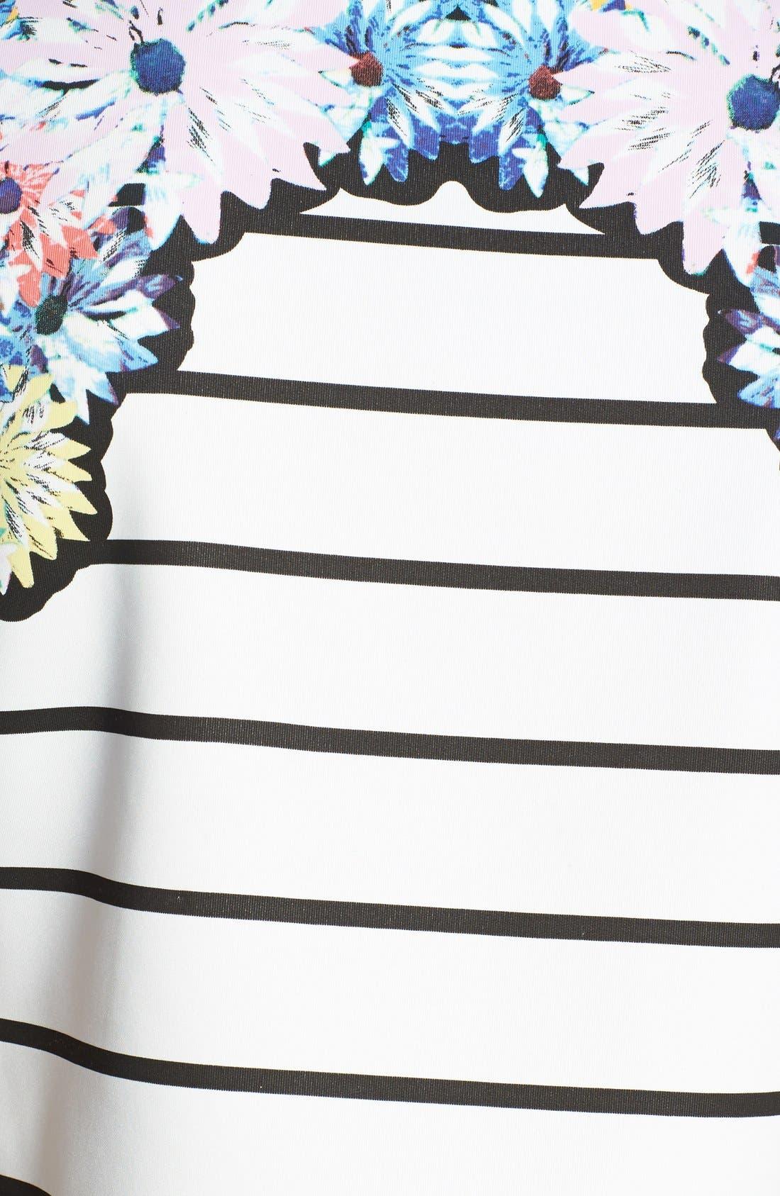 Alternate Image 3  - MINKPINK 'Fade into Daisies' Print Stripe Crop Top