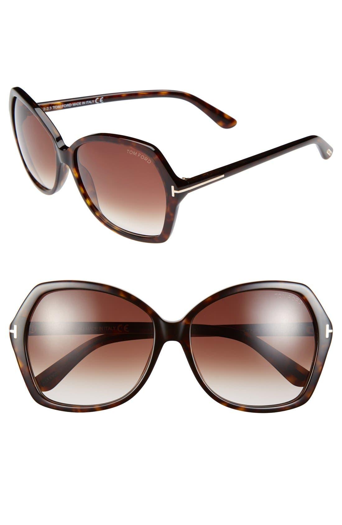 Main Image - Tom Ford Carola 60mm Sunglasses