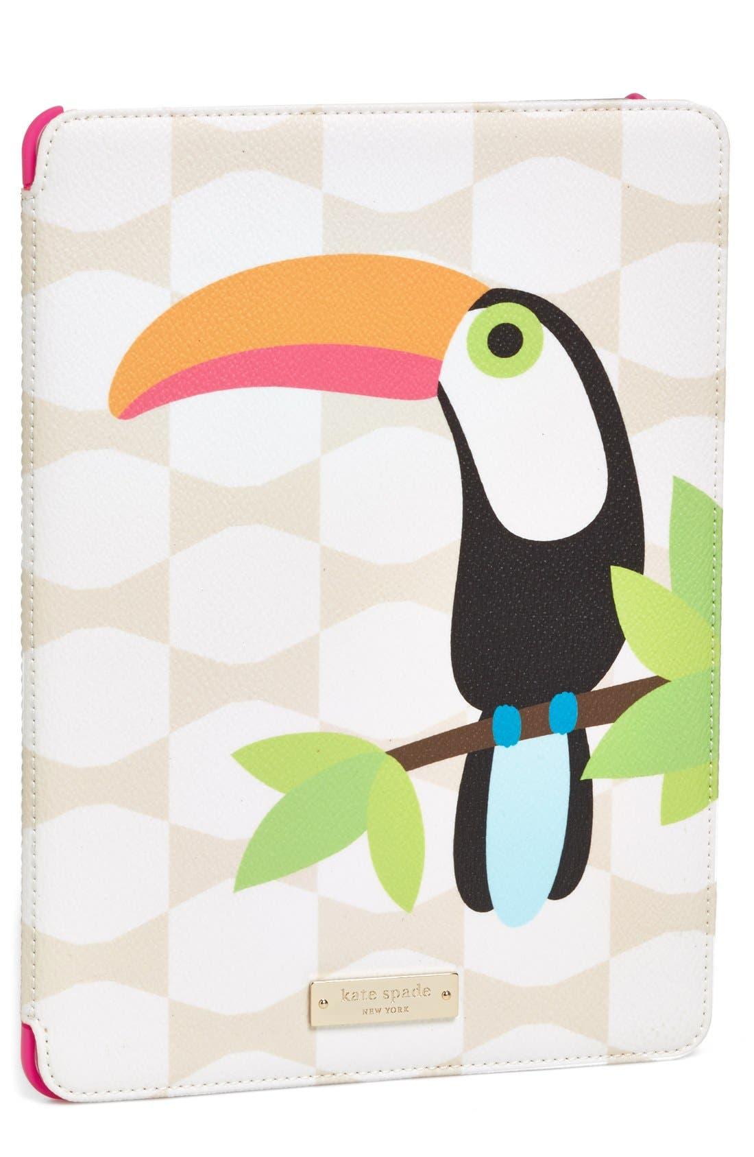 Alternate Image 1 Selected - kate spade new york 'toucan' iPad Air case