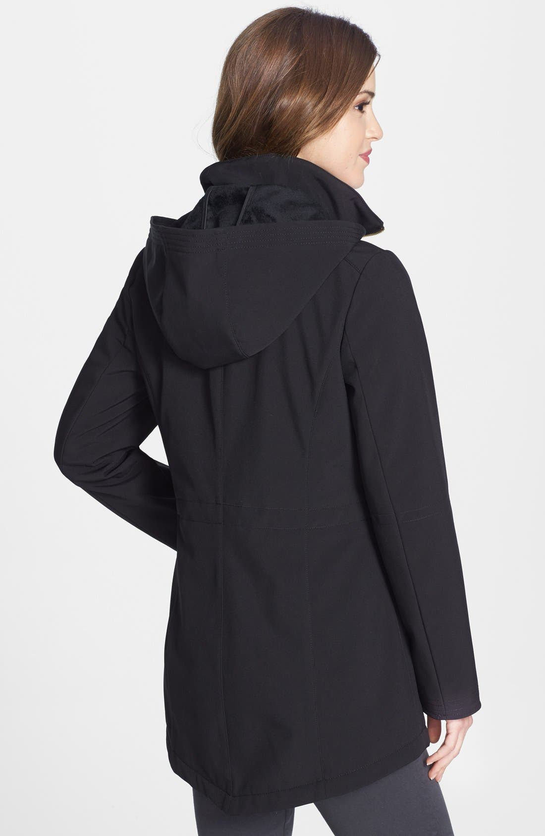 Alternate Image 4  - Via Spiga Soft Shell Anorak with Removable Hood (Online Only)