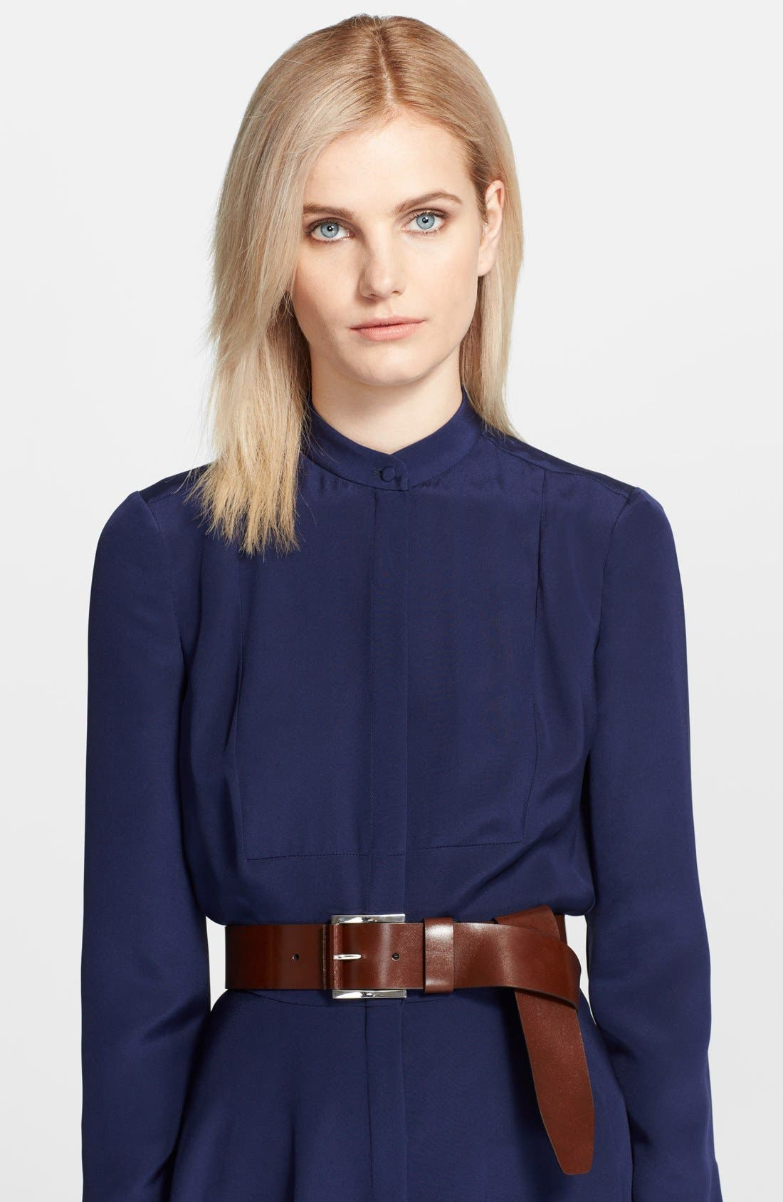 Alternate Image 1 Selected - Michael Kors Flip Tie Leather Belt