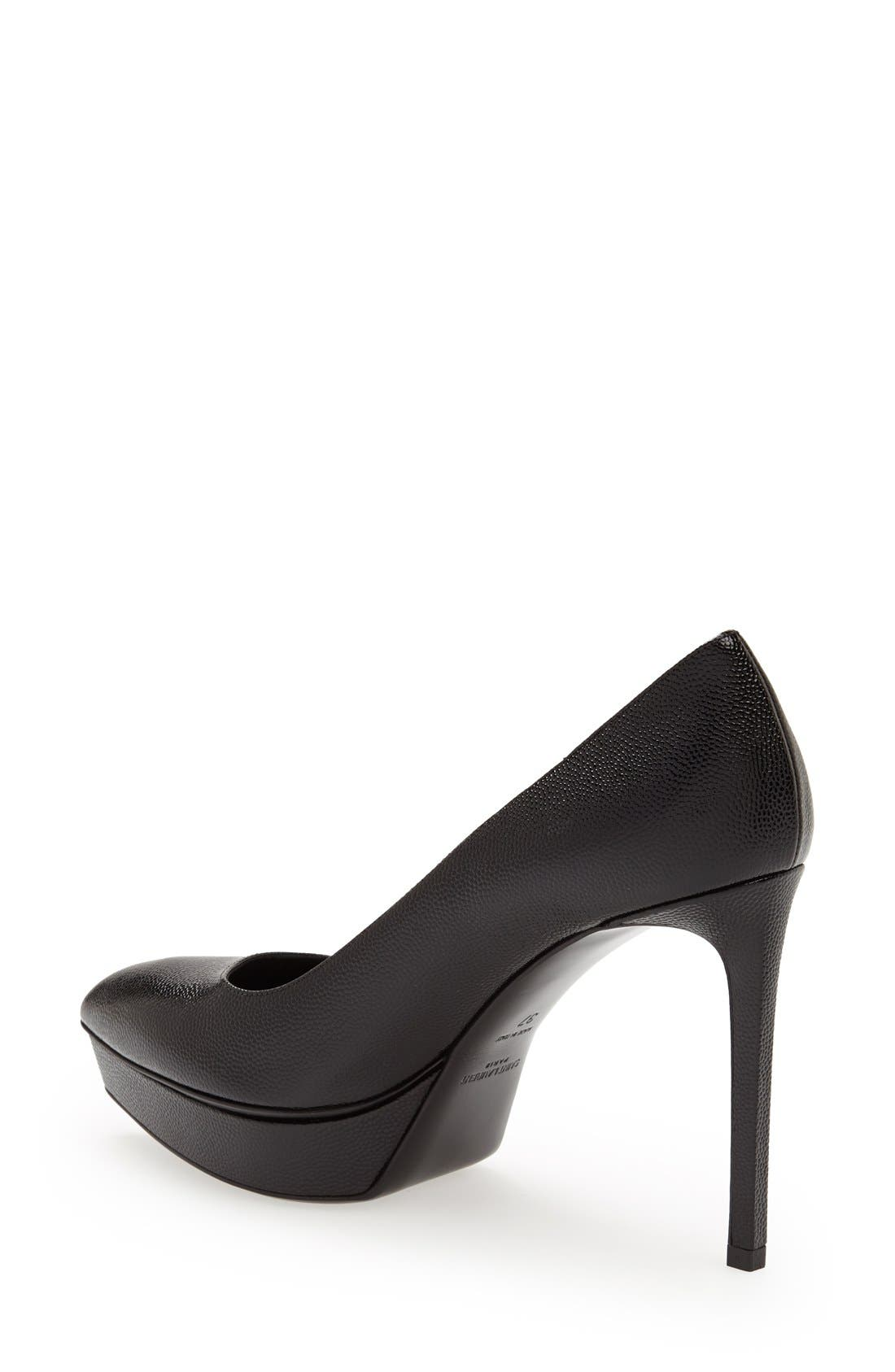 'Janis' Pointy Toe Platform Pump,                             Alternate thumbnail 2, color,                             Black